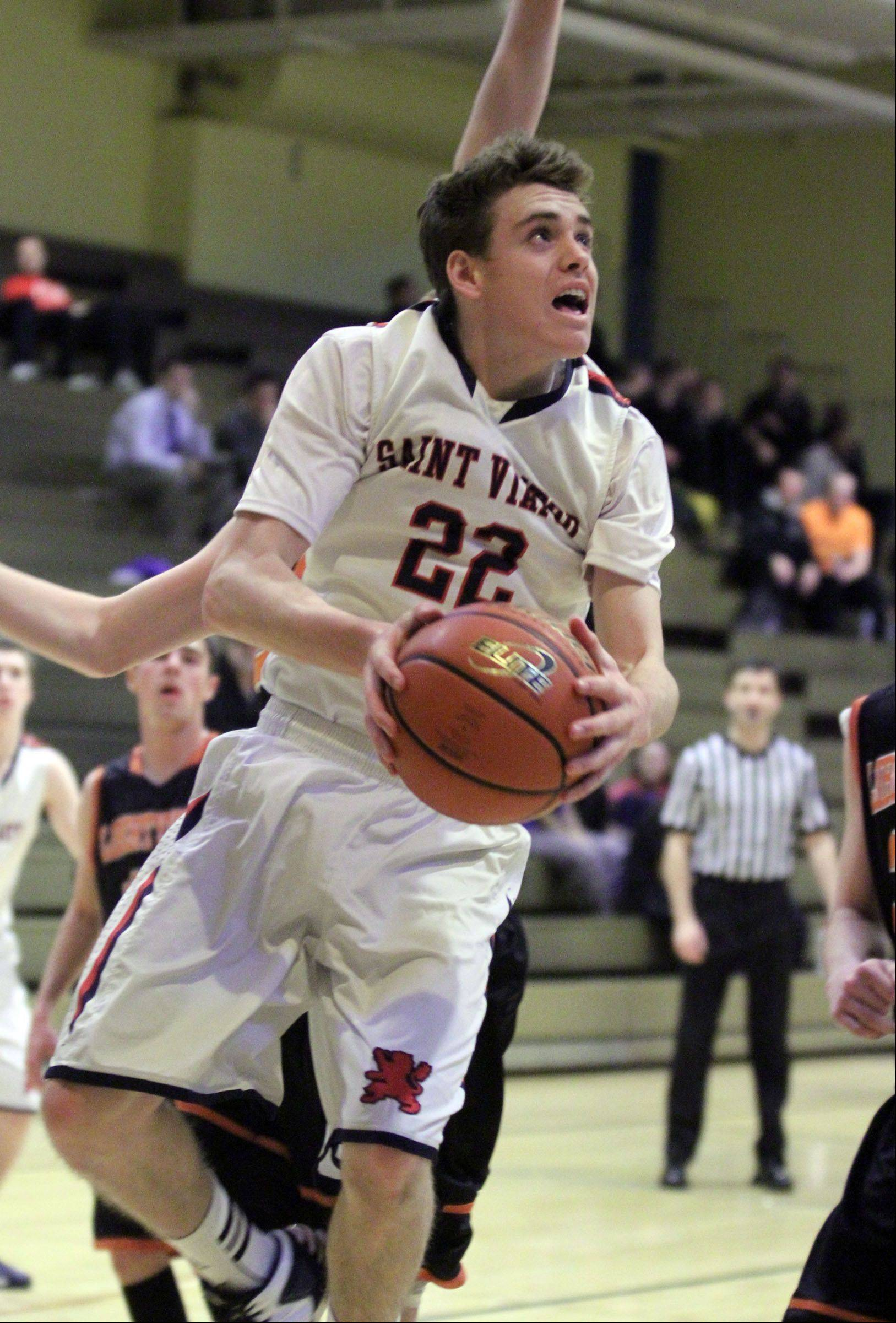 Images from the St. Viator vs. Libertyville boys basketball game on Wednesday, December 26th, in Wheeling.