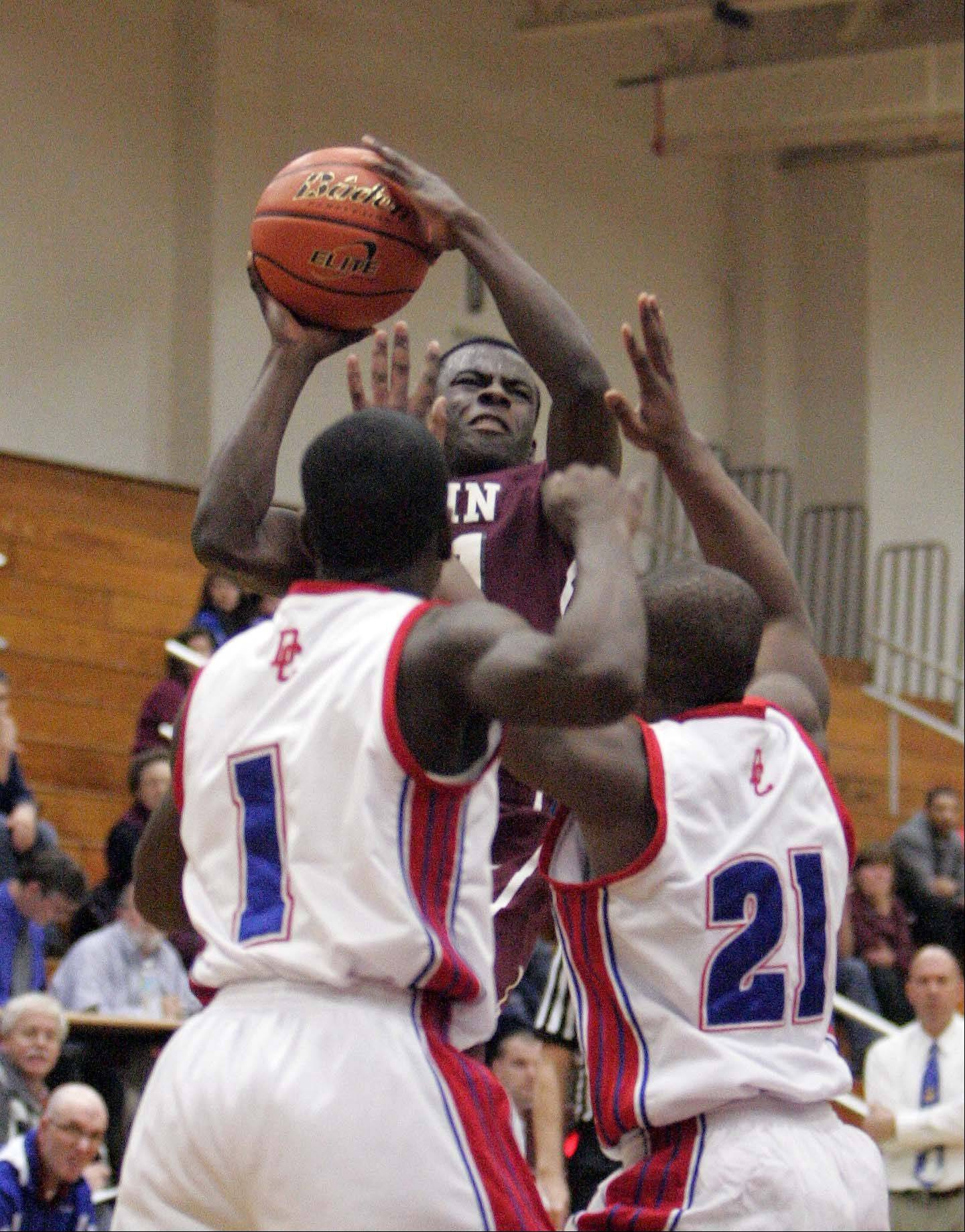 Images from Elgin vs Dundee-Crown at the 38th Annual Elgin Boys Holiday Basketball Tournament Thursday December 27, 2012.
