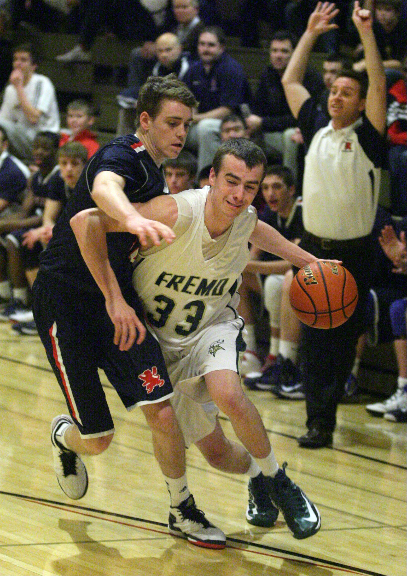 Images from the Fremd vs. St. Viator boys basketball game on Thursday, December 27th, at the Wheeling High School holiday basketball tournament.