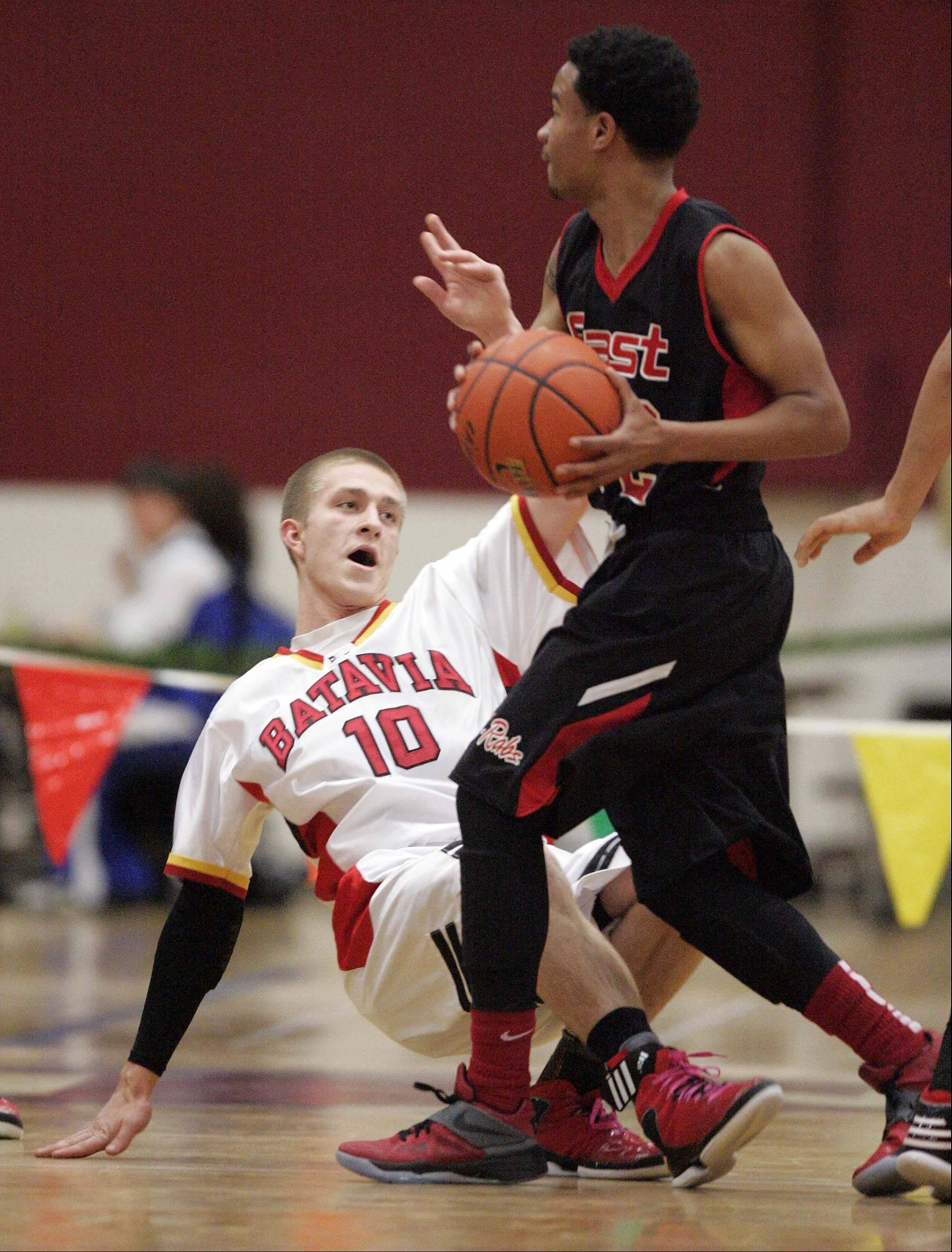 Images from Batavia vs Rockford East at the 38th Annual Elgin Boys Holiday Basketball Tournament Thursday December 27, 2012.