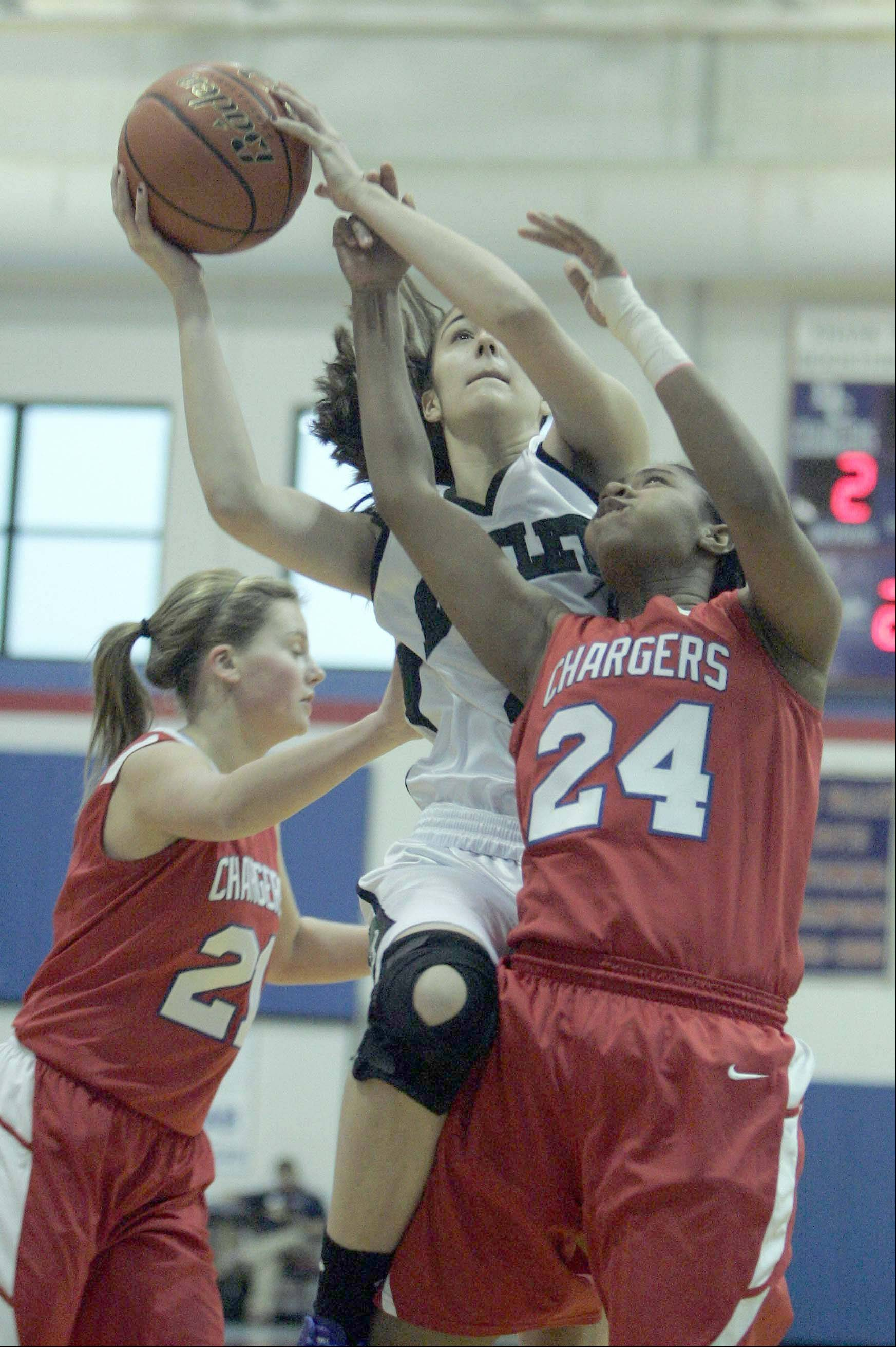 Images from Dundee-Crown vs Bartlett during the Dundee-Crown 30th Annual Charger Classic girls basketball tournament Thursday December 27, 2012 at the Carpentersville School.