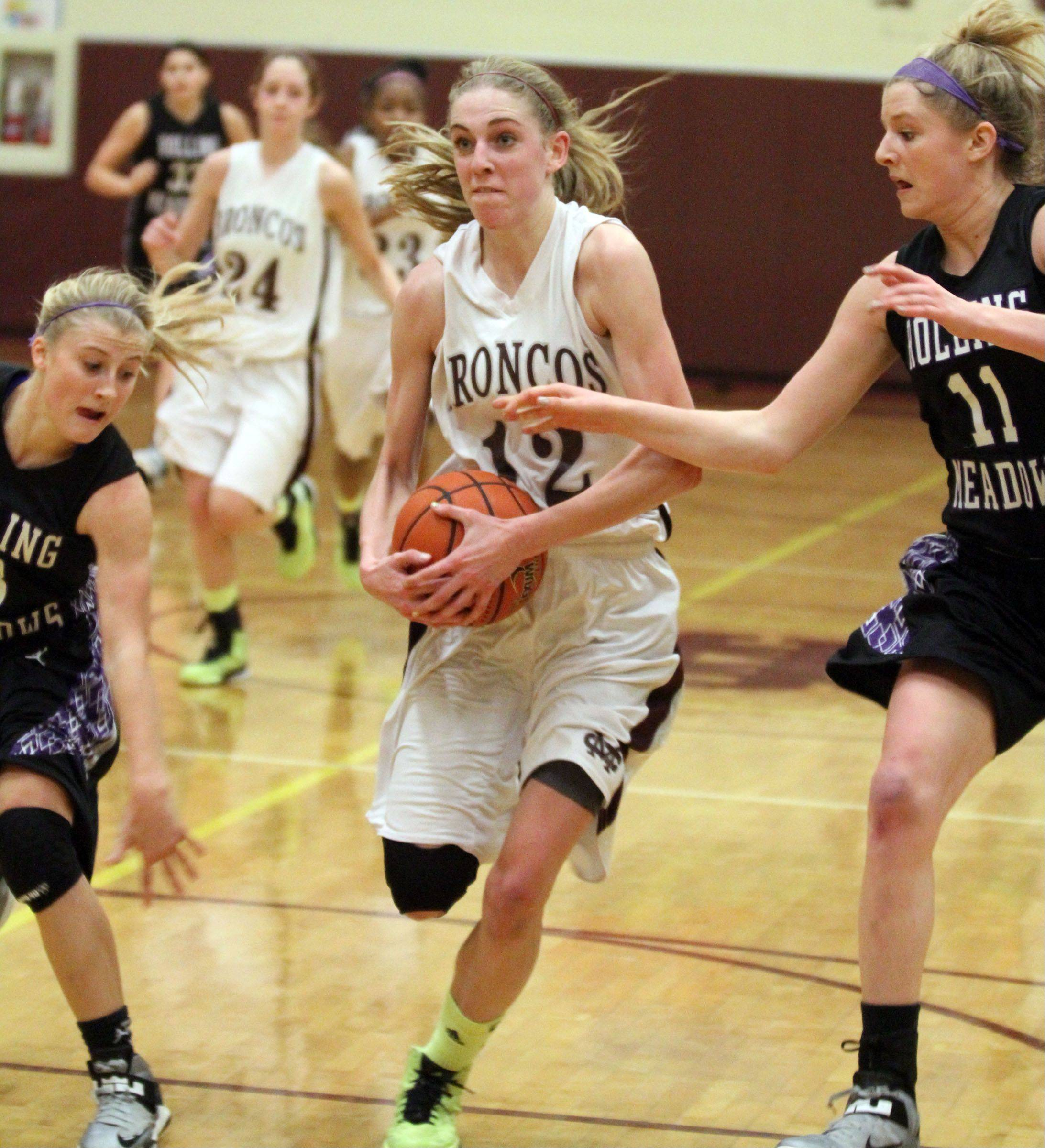 Images from the Montini vs. Rolling Meadows girls championship basketball game on Saturday, December 29th, in Lombard.