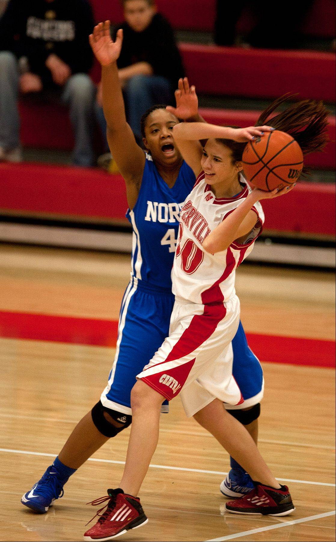 Images from the Wheaton North vs. Naperville Central girls basketball game on Saturday, Jan. 5, 2013.