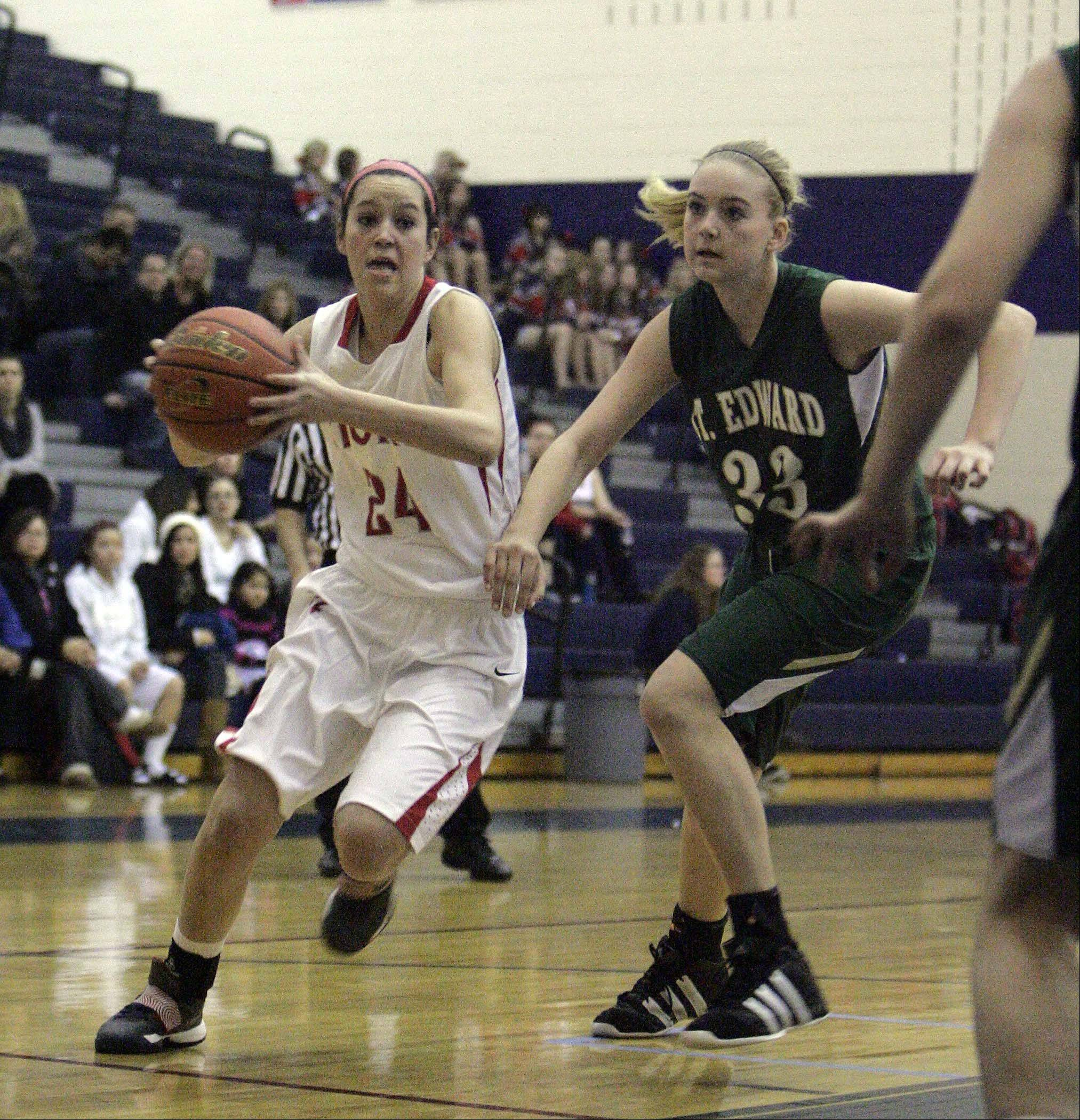 Images from the St. Edward vs. South Elgin girls basketball game Saturday, January 5, 2012.