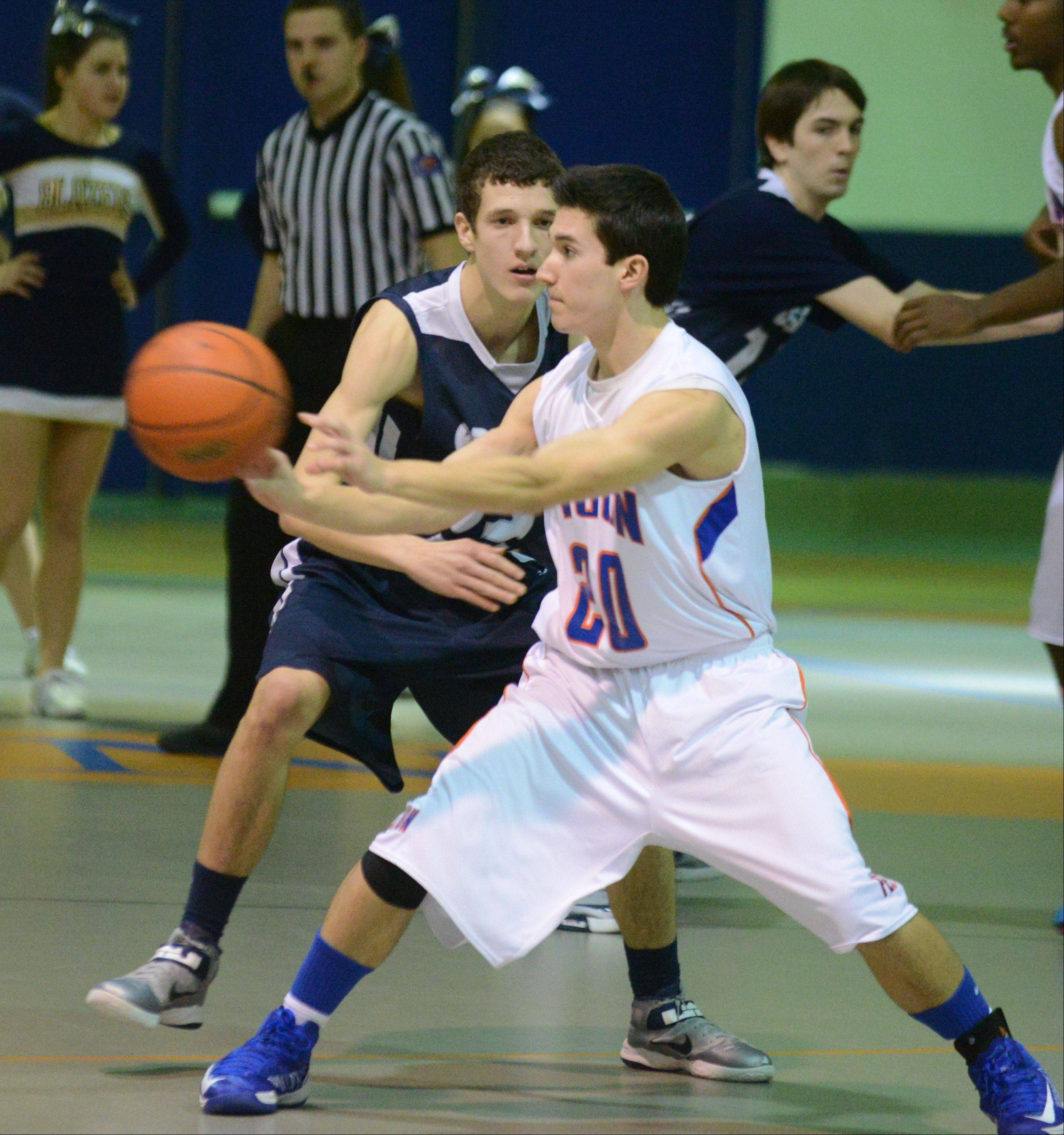 Fenton hosted Addison Trail Tuesday night for boys basketball in Bensenville.