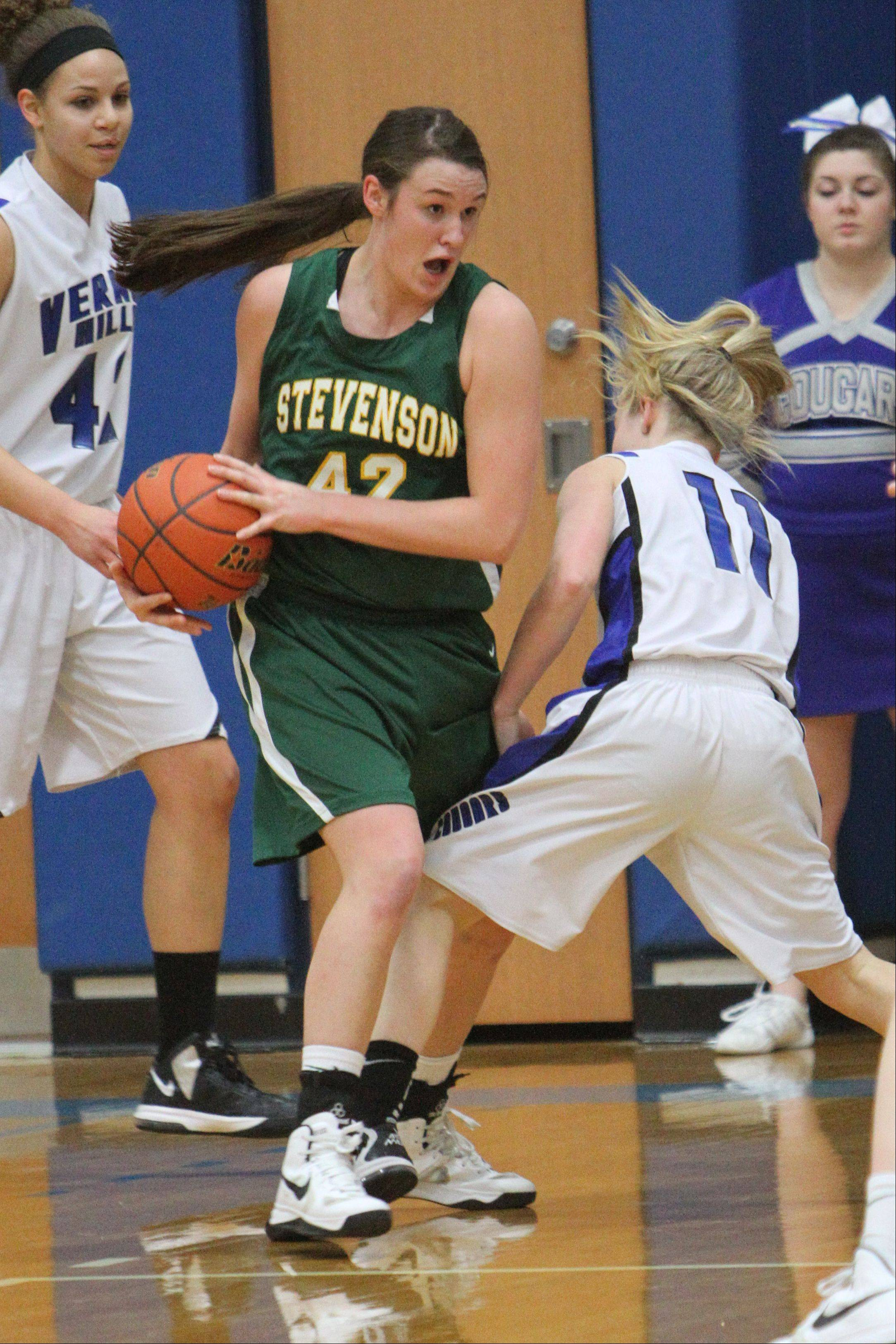 Images from the Stevenson at Vernon Hills girls basketball game on Tuesday, Jan. 8 in Vernon Hills.