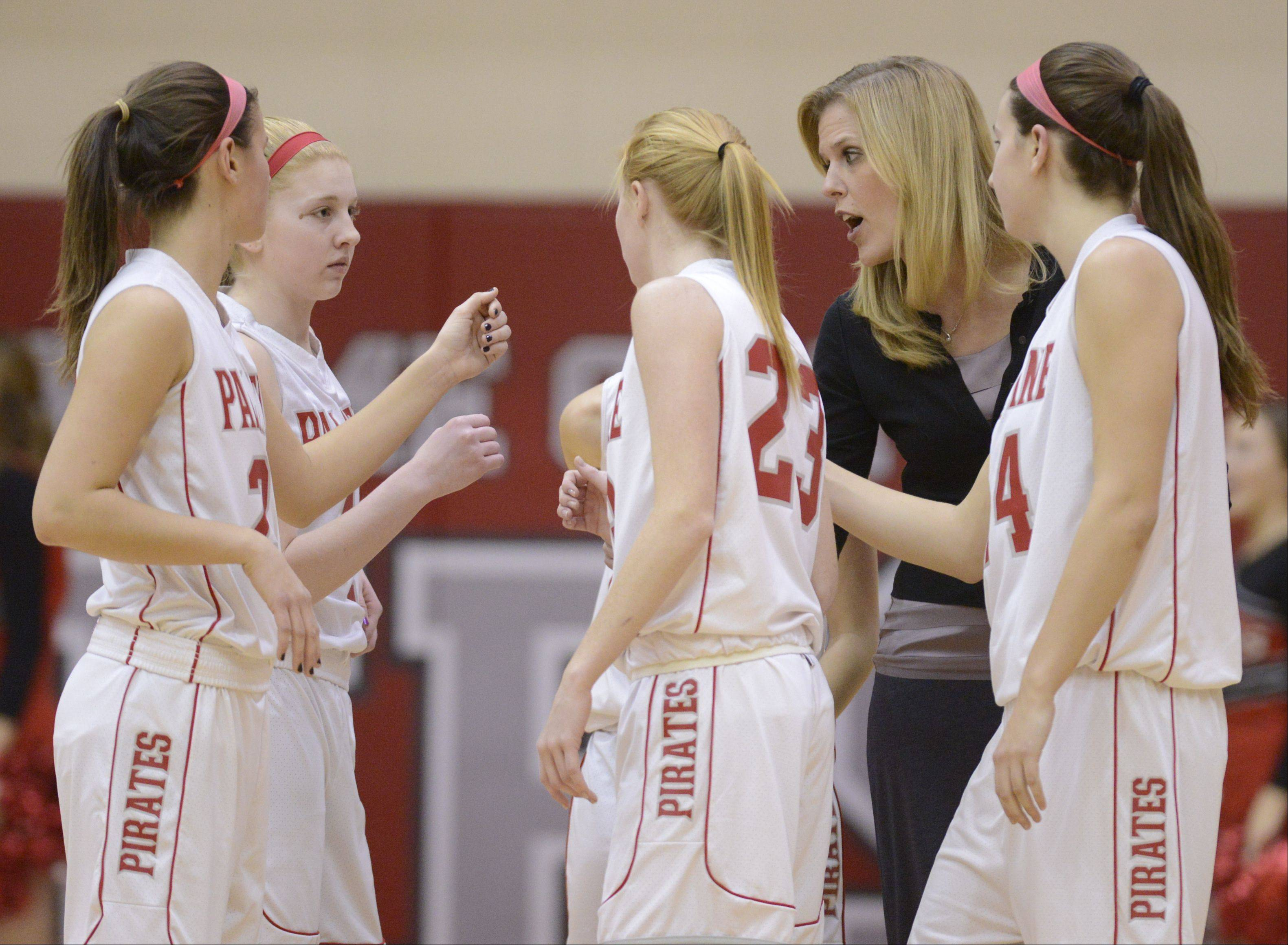 Images from the Palatine vs. Rolling Meadows girls basketball game on Wednesday, January 9th, in Palatine