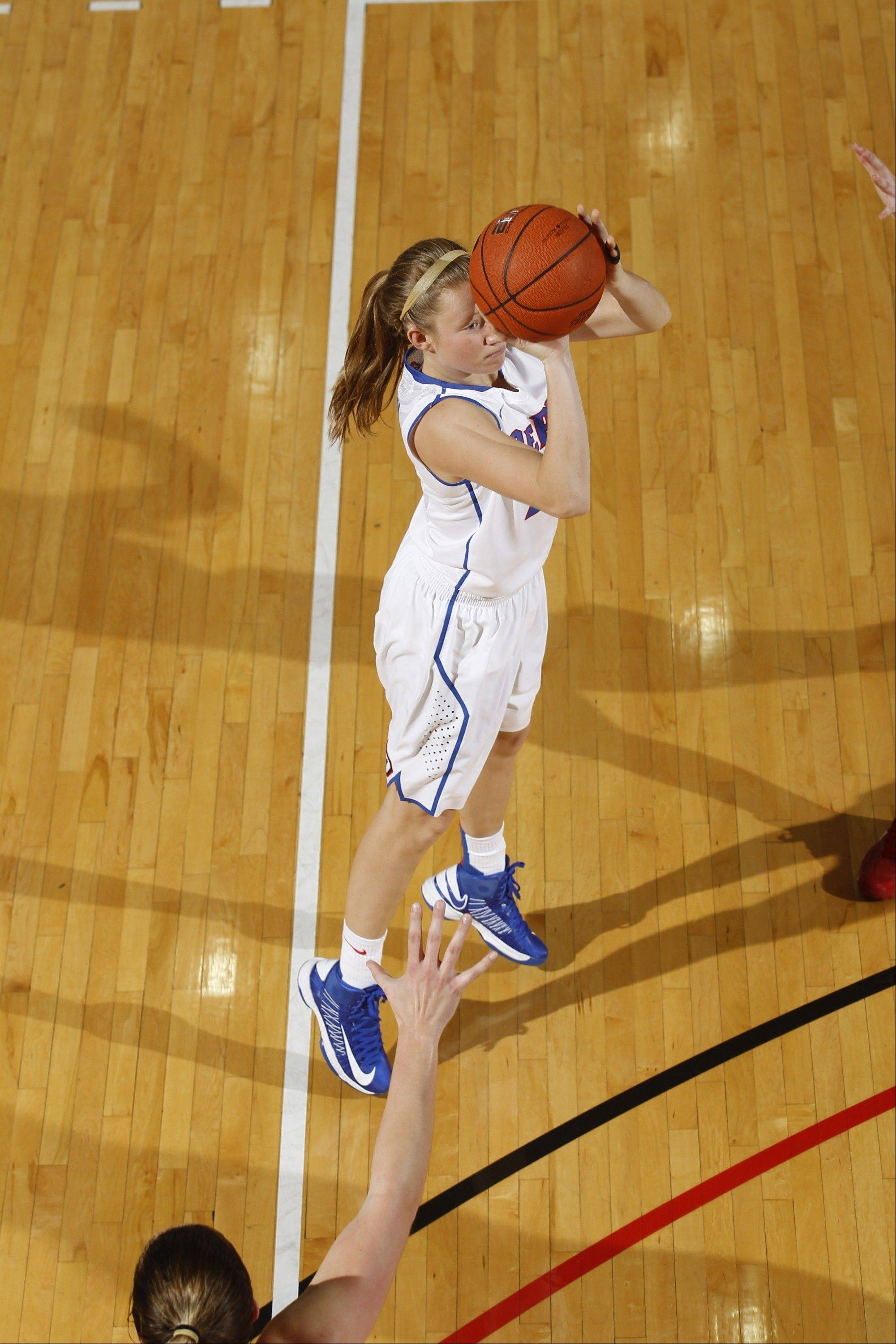 Former Hersey star Megan Rogowski of DePaul will be sidelined with a broken hand, head coach Doug Bruno said Wednesday. Rogowski had hit 22 three-point baskets for the Blue Demons this season.