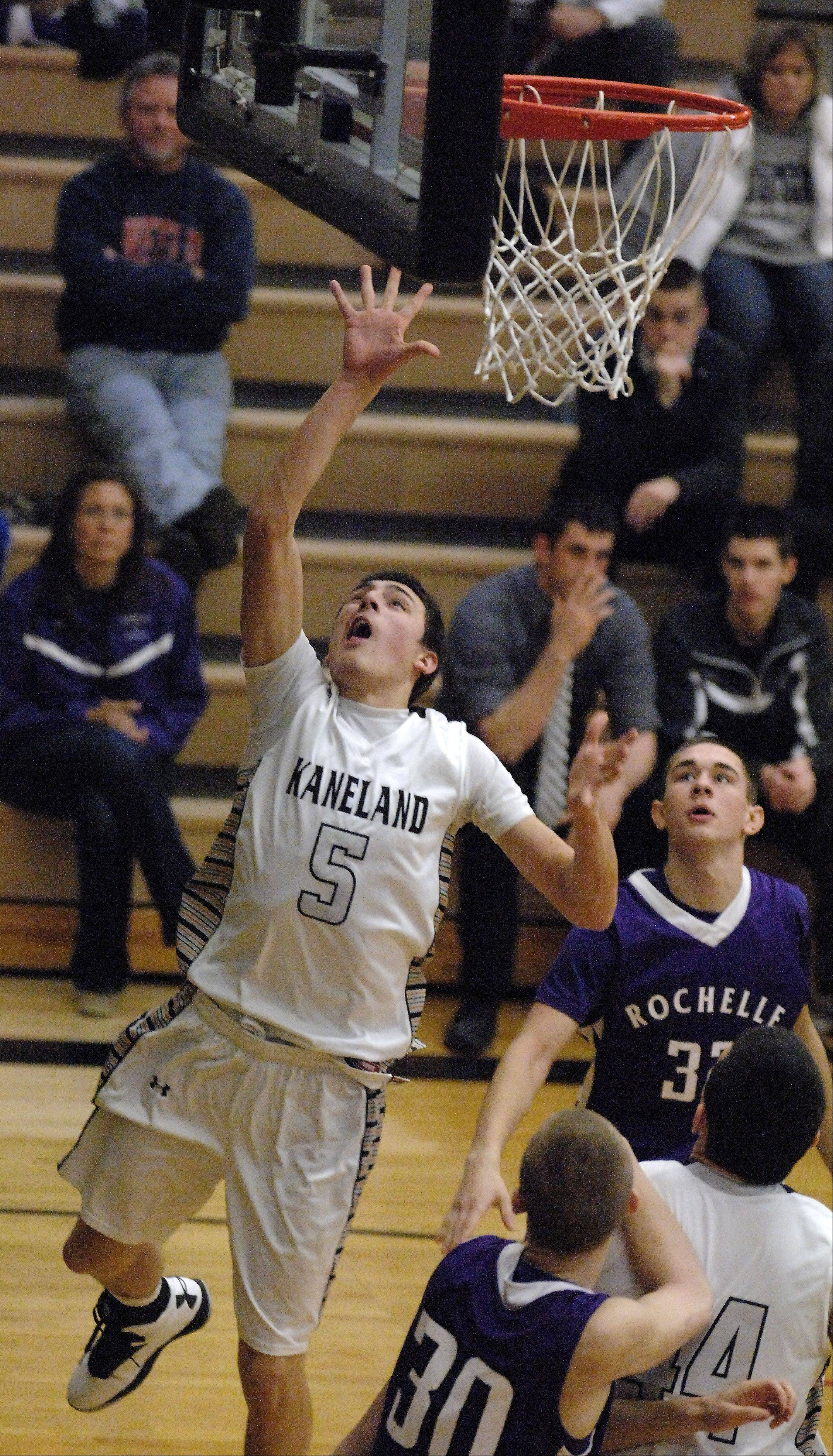 Images from the Rochelle vs. Kaneland boys basketball game Thursday, January 10, 2013.