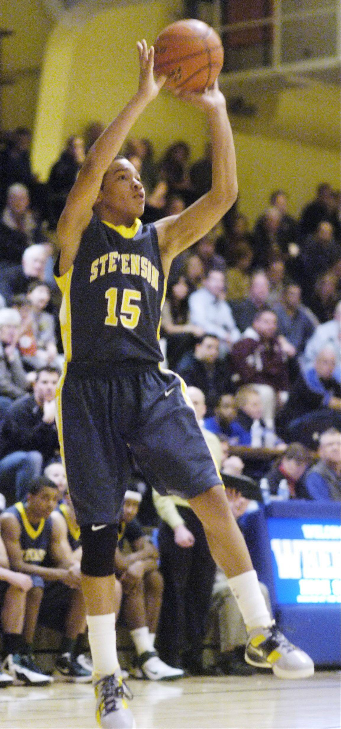 Stevenson's Jalen Brunson earned second-team all-tournament honors for his efforts at Proviso West over the holidays.