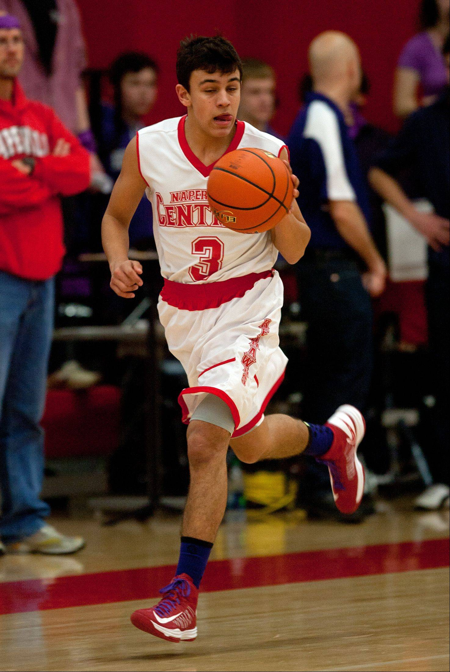 Naperville Central High School hosted Naperville North High School for boys� basketball, Friday January 11, 2013.