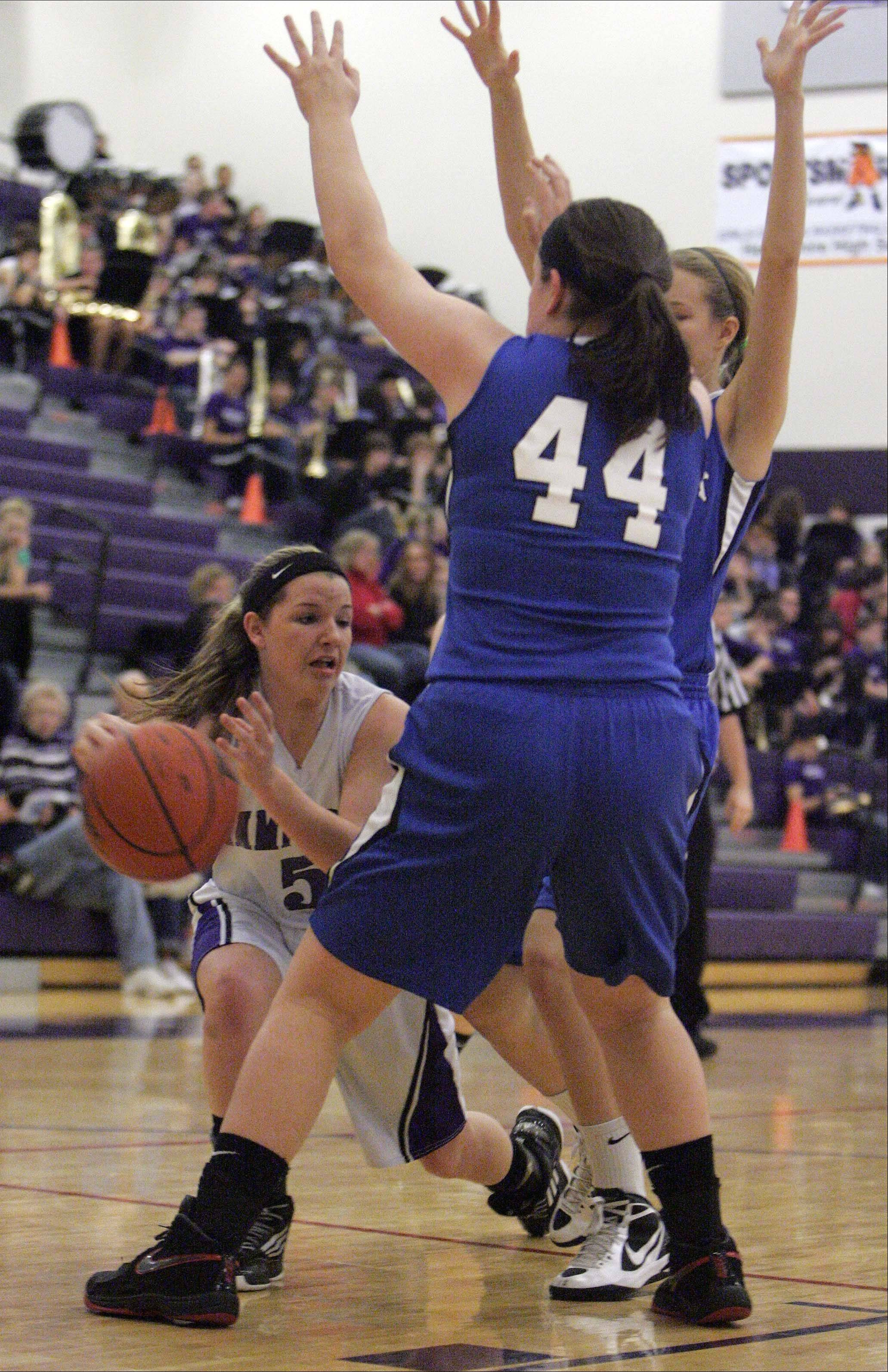 Images from the Woodstock vs. Hampshire girls basketball game Saturday, January 12, 2013.