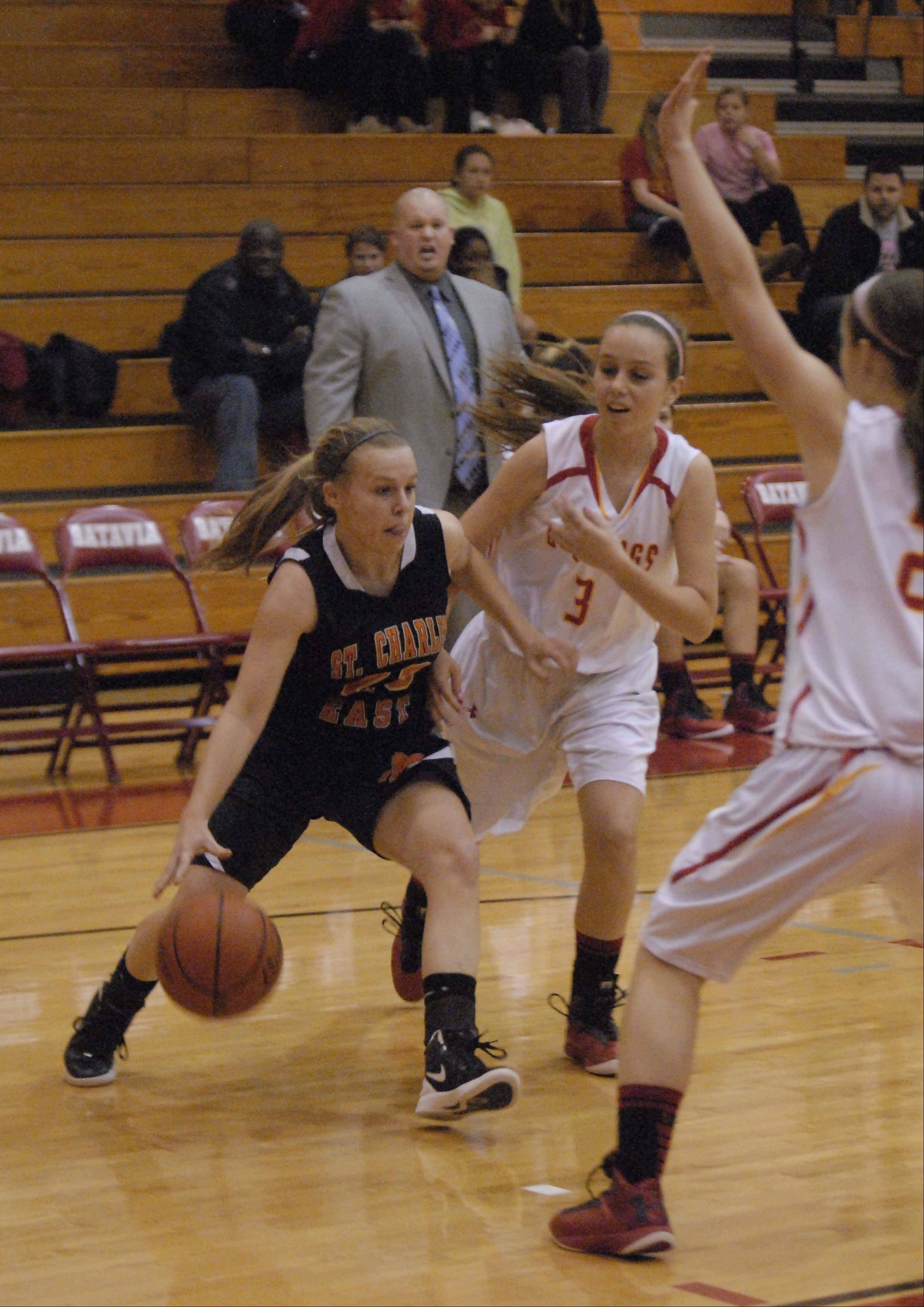 Images from the St. Charles East vs. Batavia girls basketball game Tuesday, January 8, 2013.