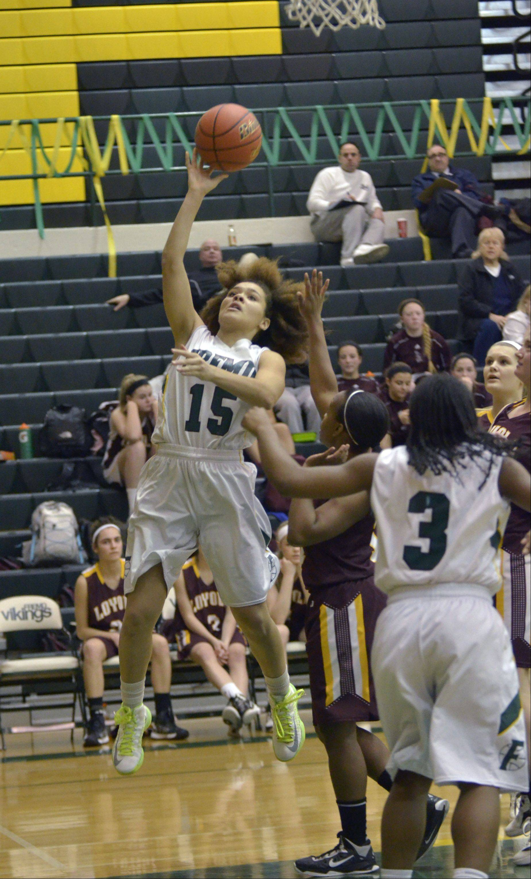 Images from the Fremd vs. Loyola girls basketball game on Monday, January 14th, in Palatine.