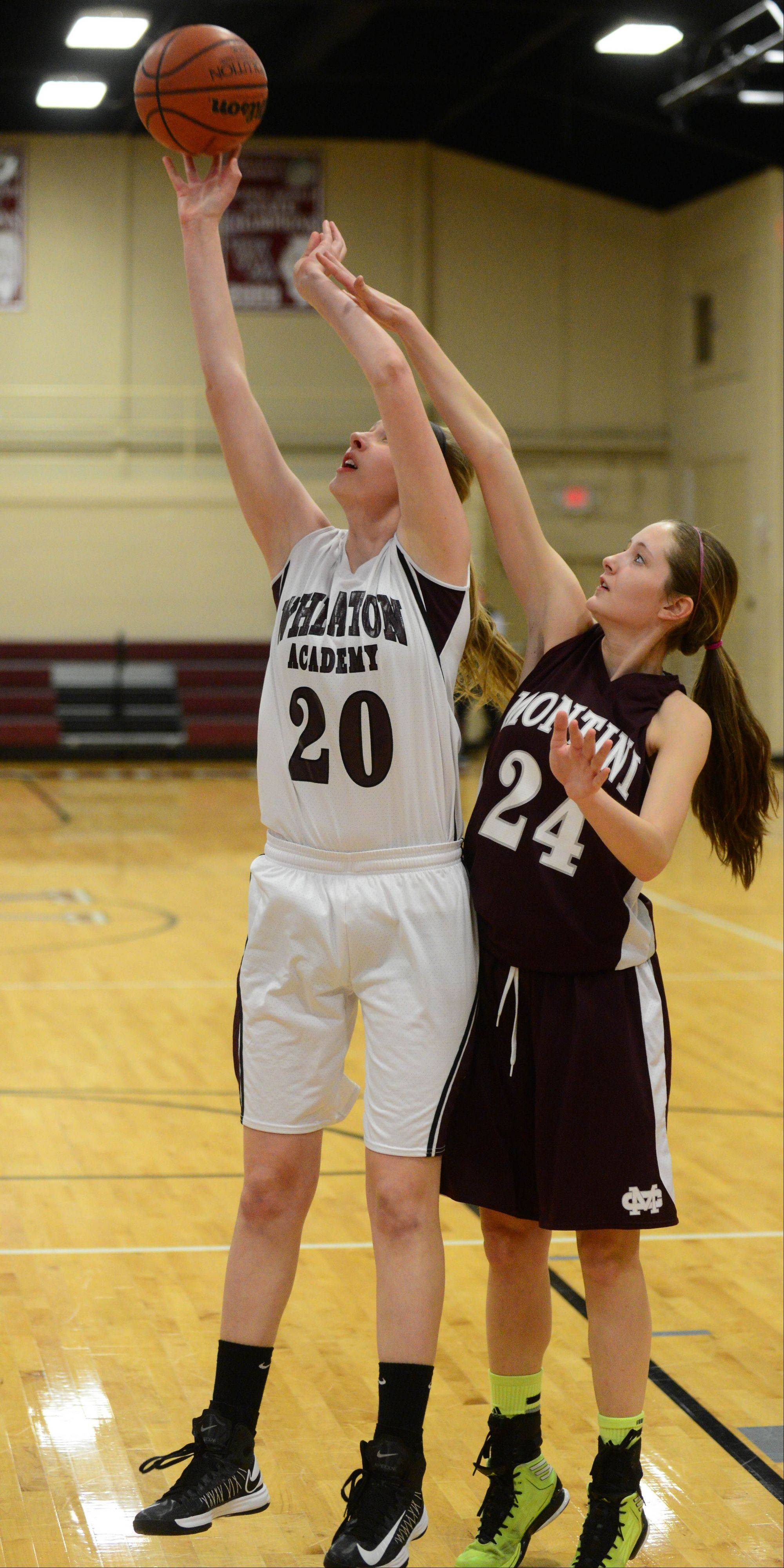 Wheaton Academy hosted Montini Tuesday night for girls basketball.