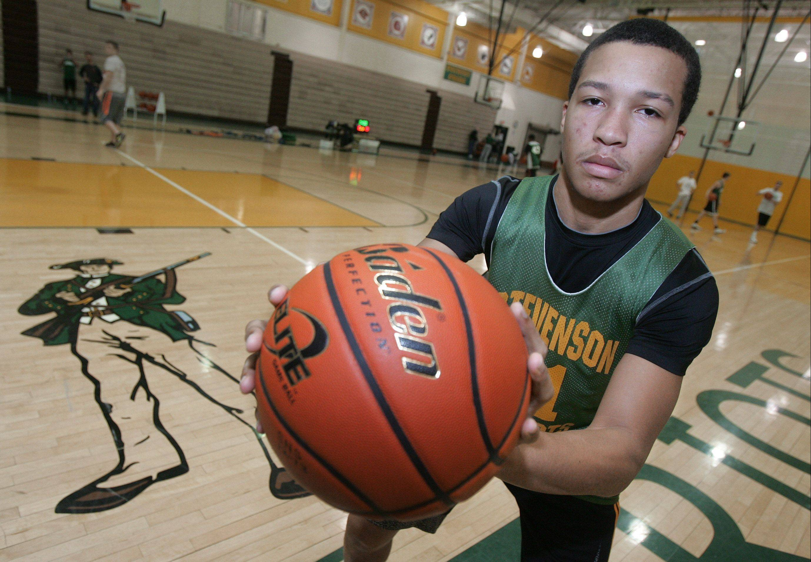 Point guard Jalen Brunson is having a ball leading a Stevenson team that's finding plenty of success this season.