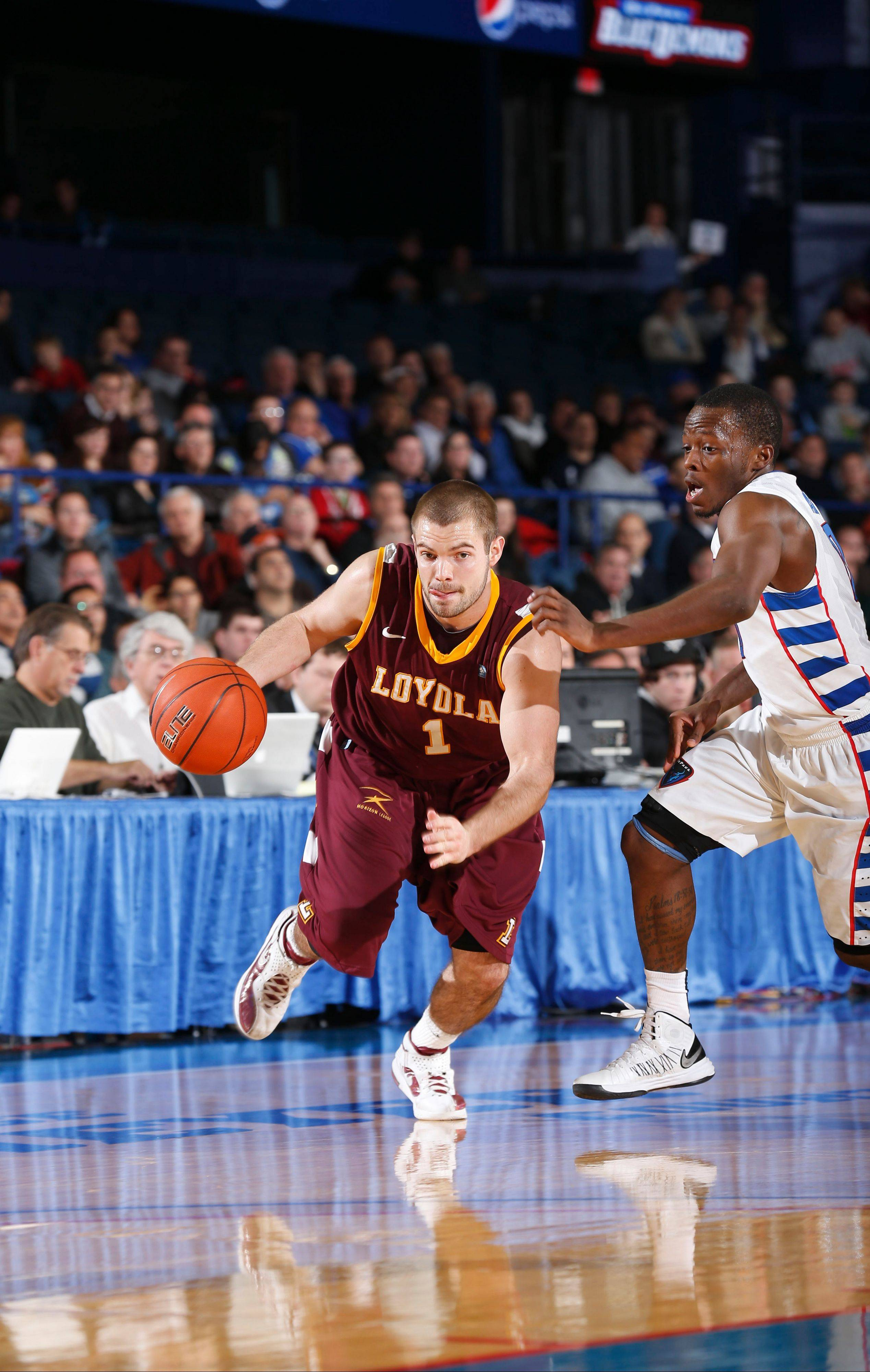 Cully Payne works for an opening against DePaul.