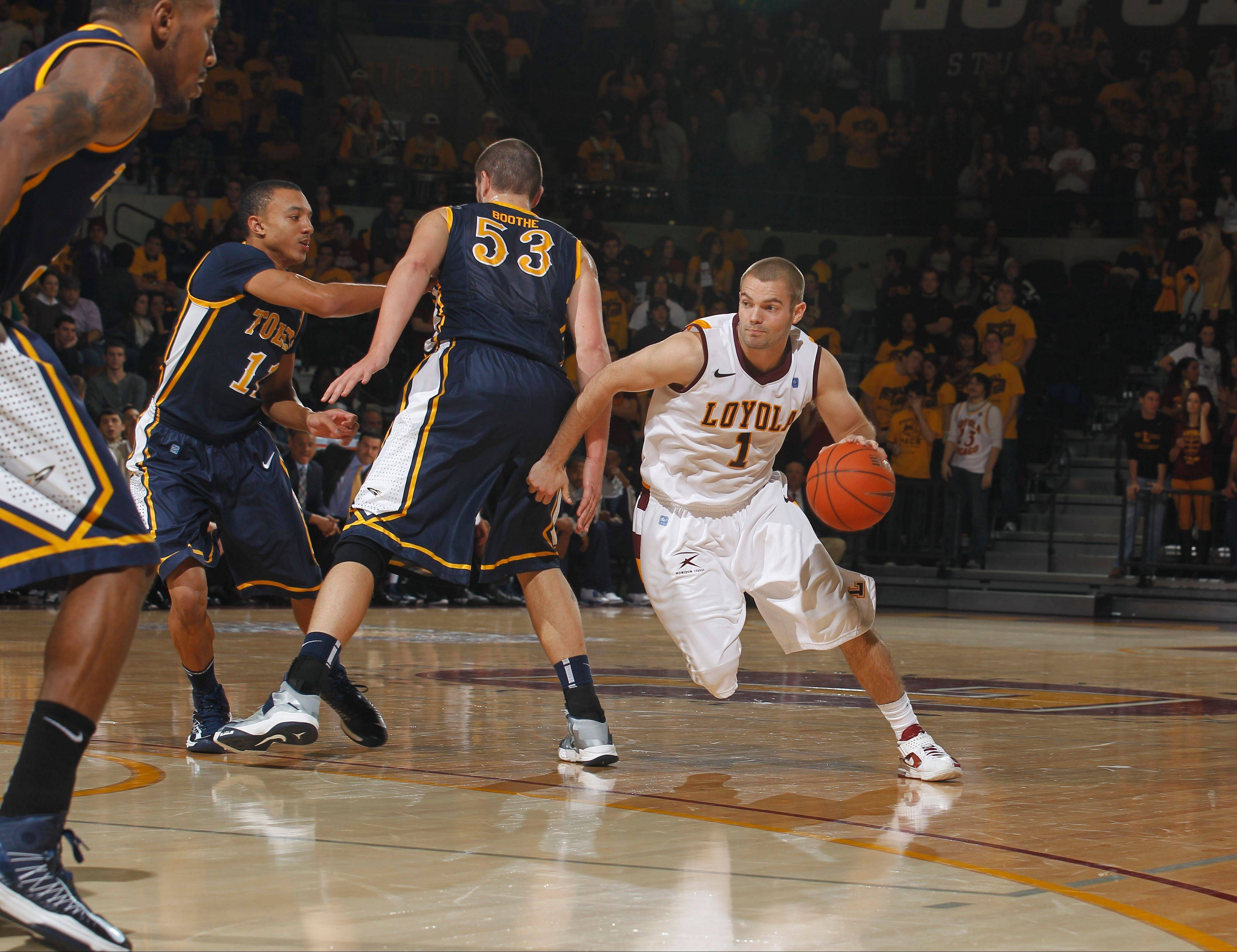 Loyola's Cully Payne goes to the dribble-drive in a recent game against Toledo.