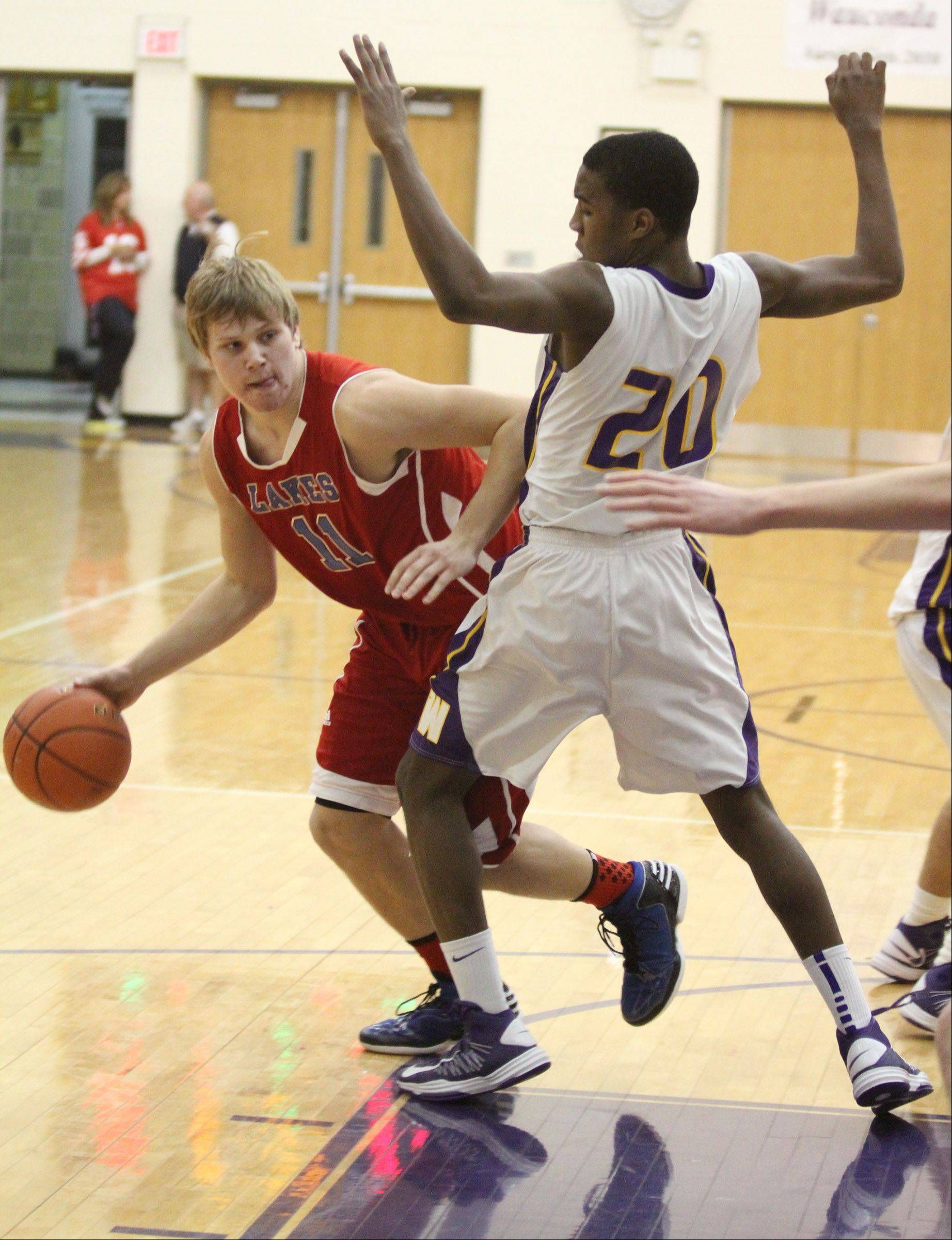 Images from the Lakes at Wauconda boys basketball game on Friday, Jan 18 in Wauconda.