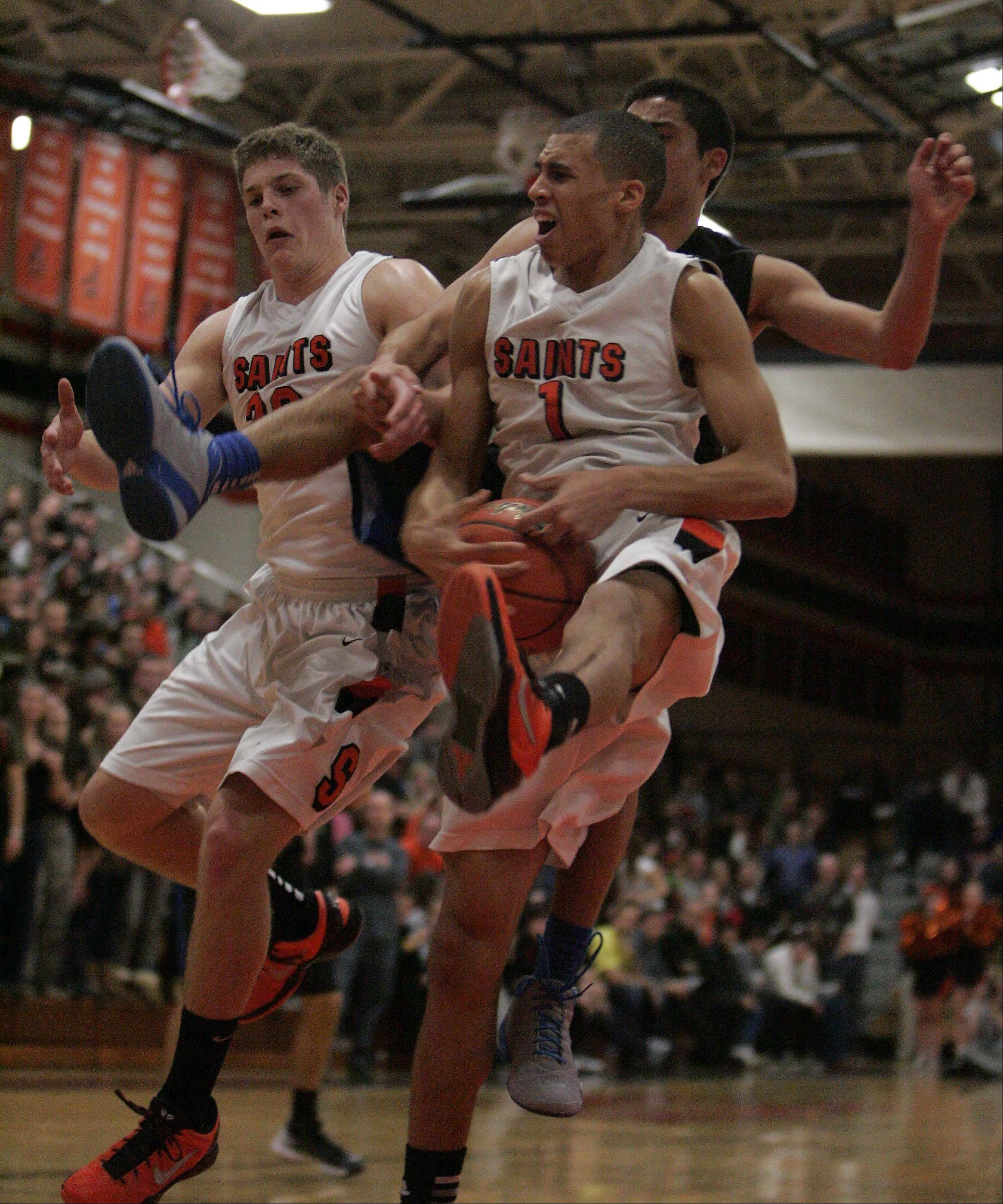 Images from the St. Charles North vs. St. Charles East boys basketball game Friday, January 18, 2013.