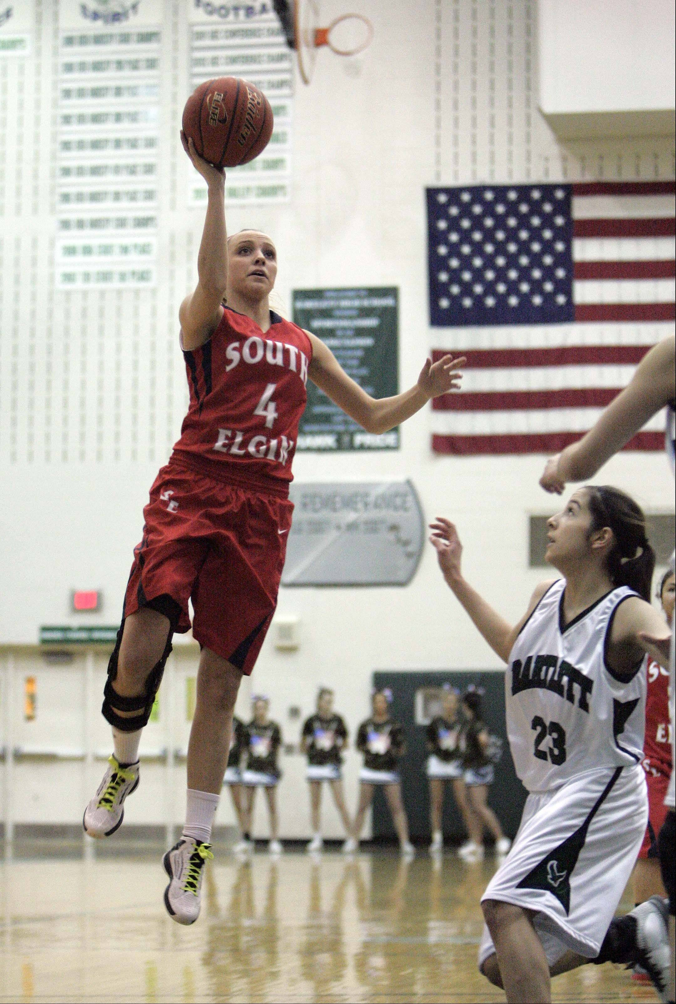 Images from the South Elgin vs Bartlett girls basketball game Saturday January 19, 2013 in Bartlett.