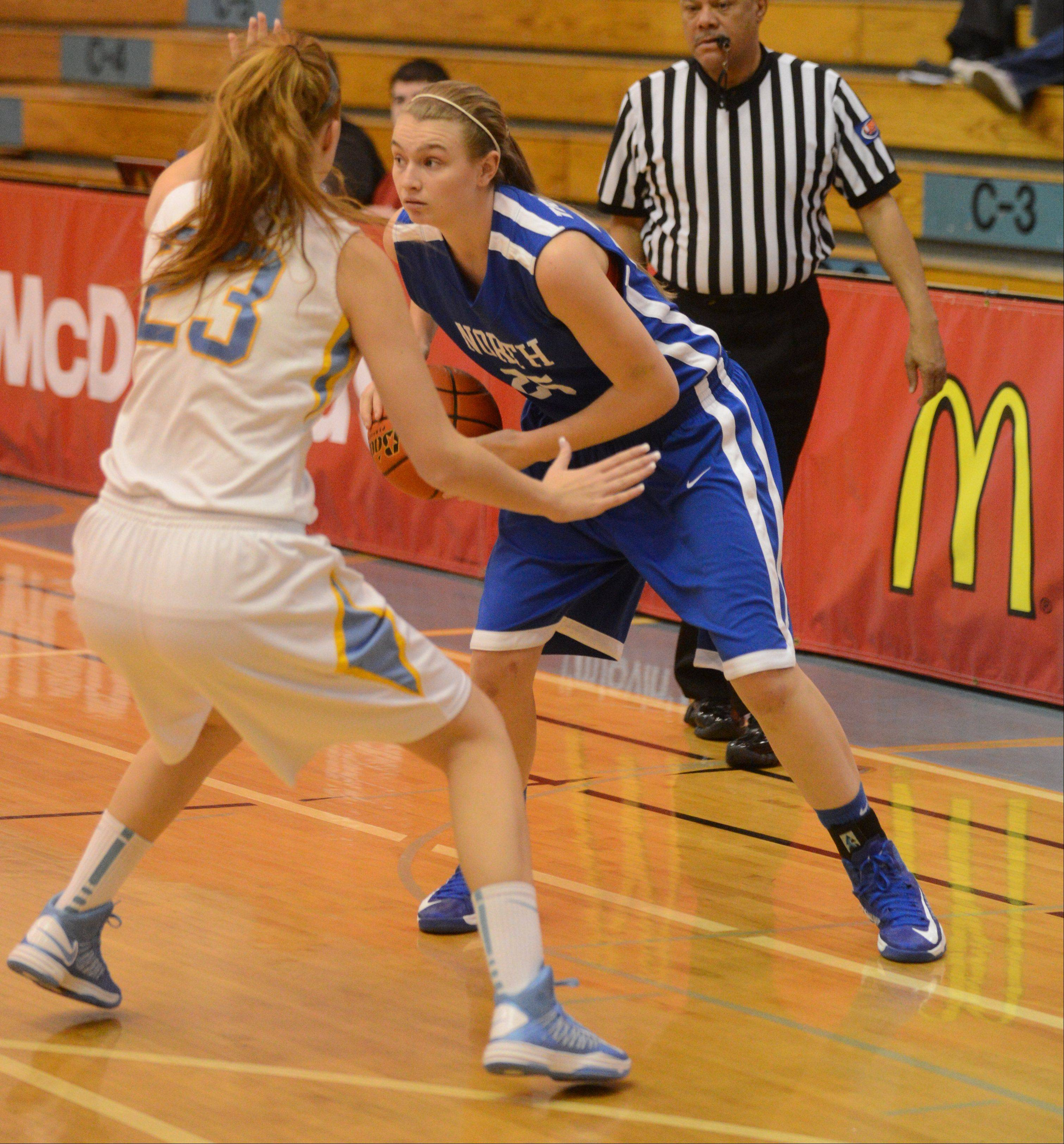 Wheaton North takes on Maine West Saturday for girls basketball at Willowbrook High School in Villa Park.