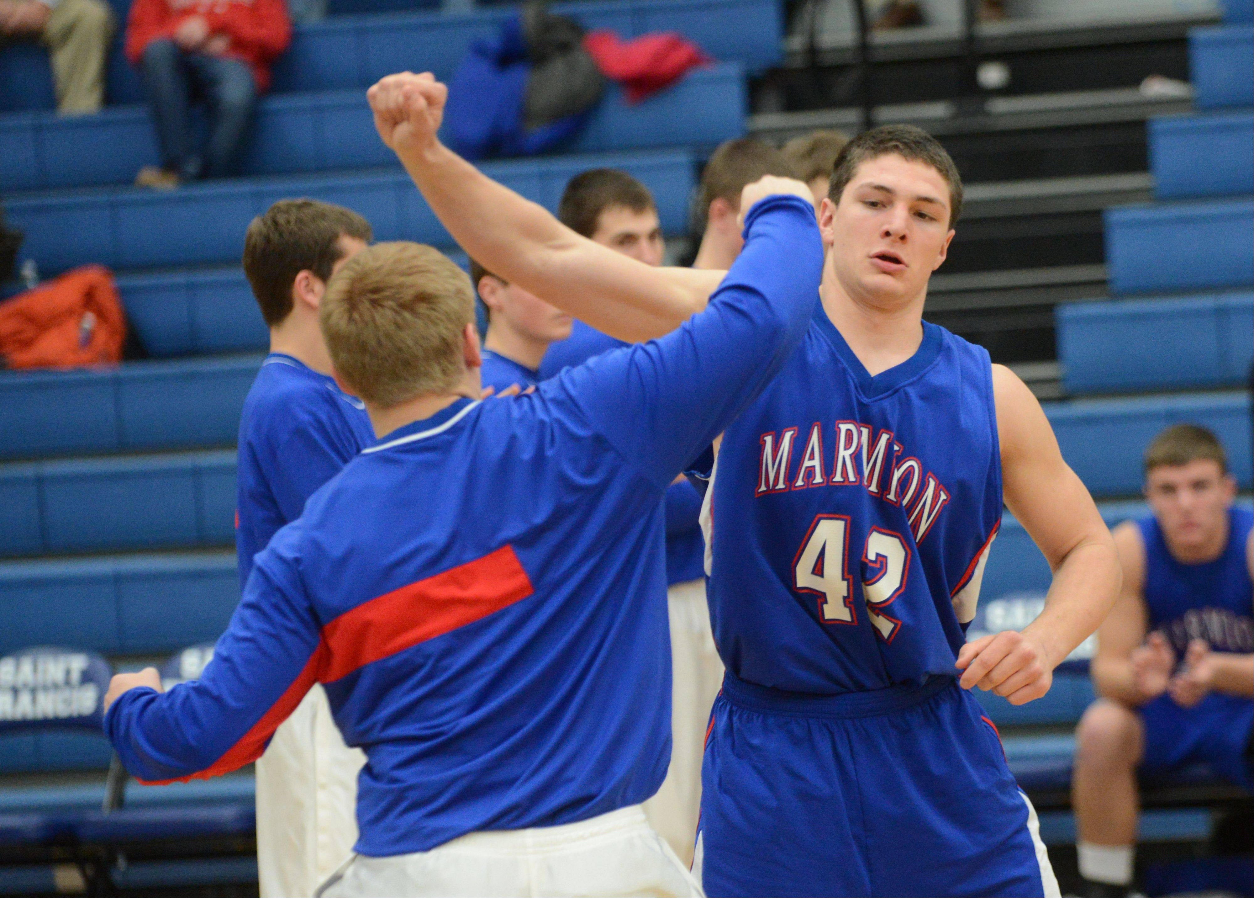 Images: Marmion vs. St. Francis, boys basketball