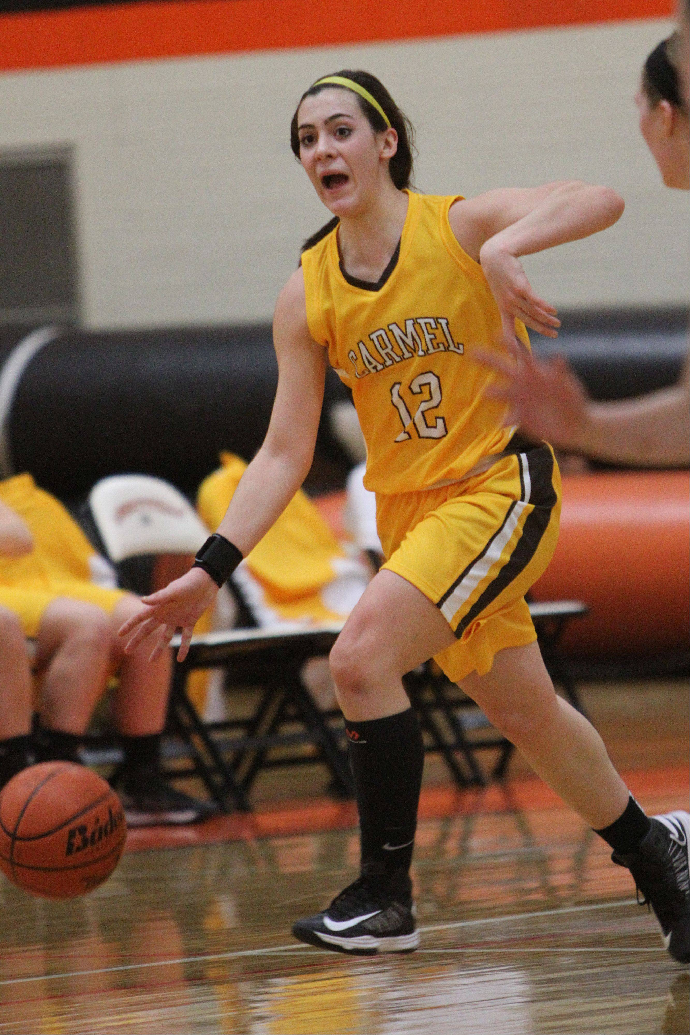 Images from the Carmel at Libertyville girls basketball game Wednesday, Jan. 23.
