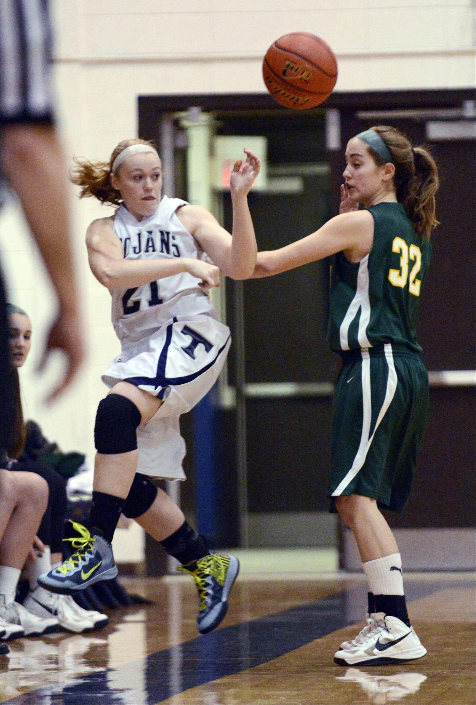 Images from the Stevenson vs. Cary-Grove girls basketball game Wednesday, January 23, 2013.