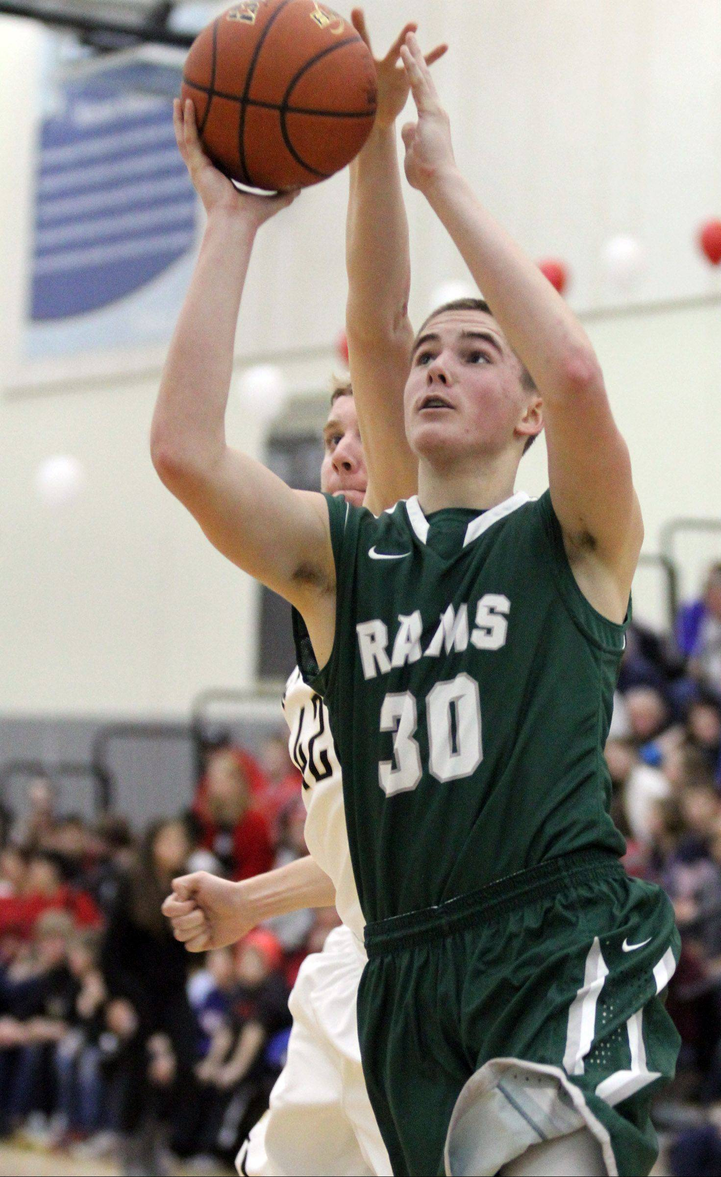 Grayslake Central forward Alex Lennartz breaks away for a shot against Grayslake North at Grayslake North on Friday.