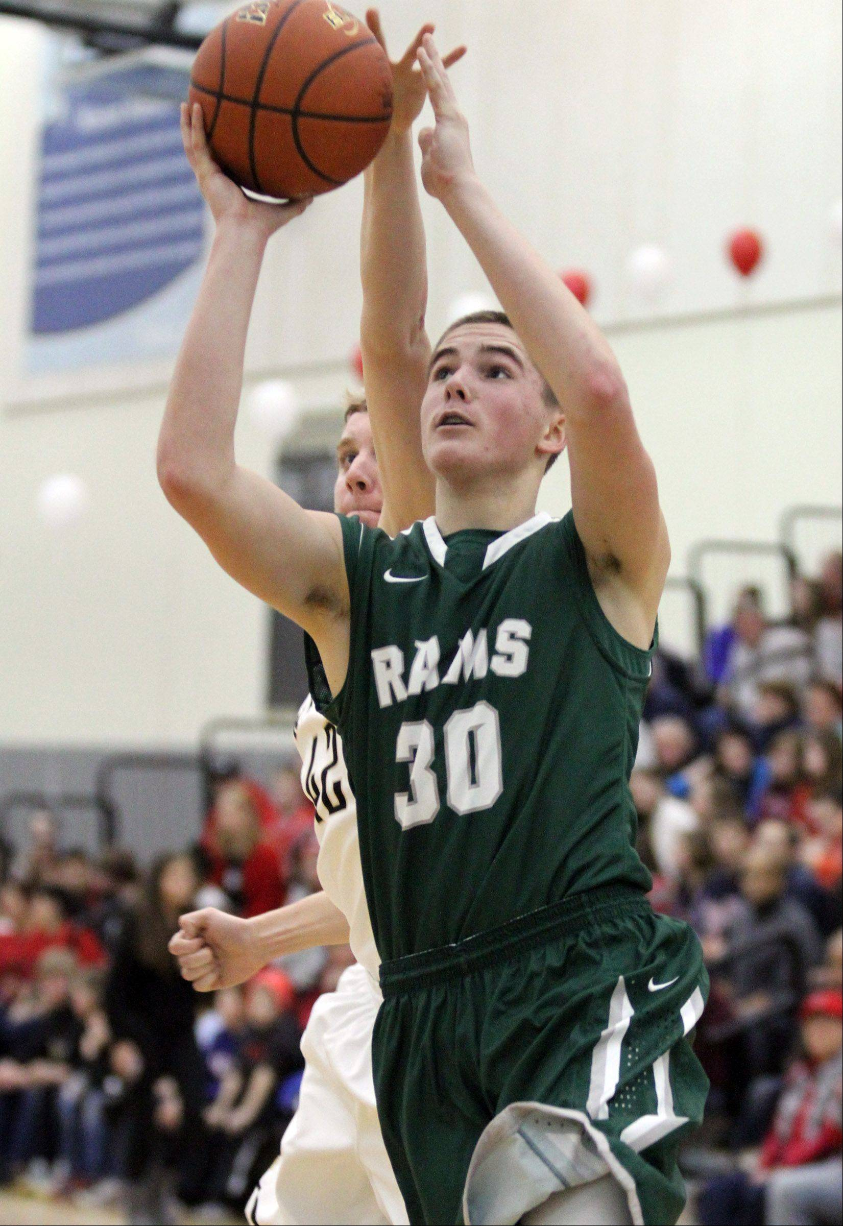 Grayslake Central forward Alex Lennartz breaks away for a shot.