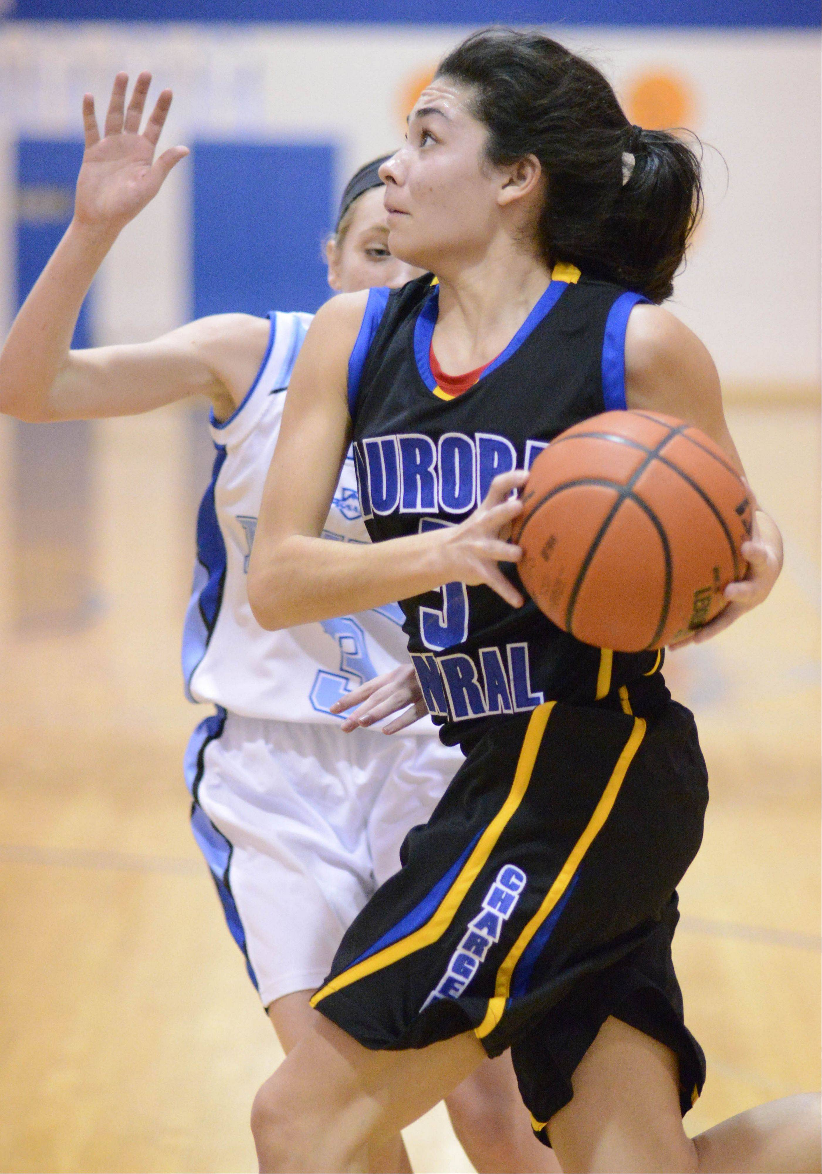 Images from the Aurora Central Catholic vs. Rosary girls basketball game Wednesday, January 30, 2013.