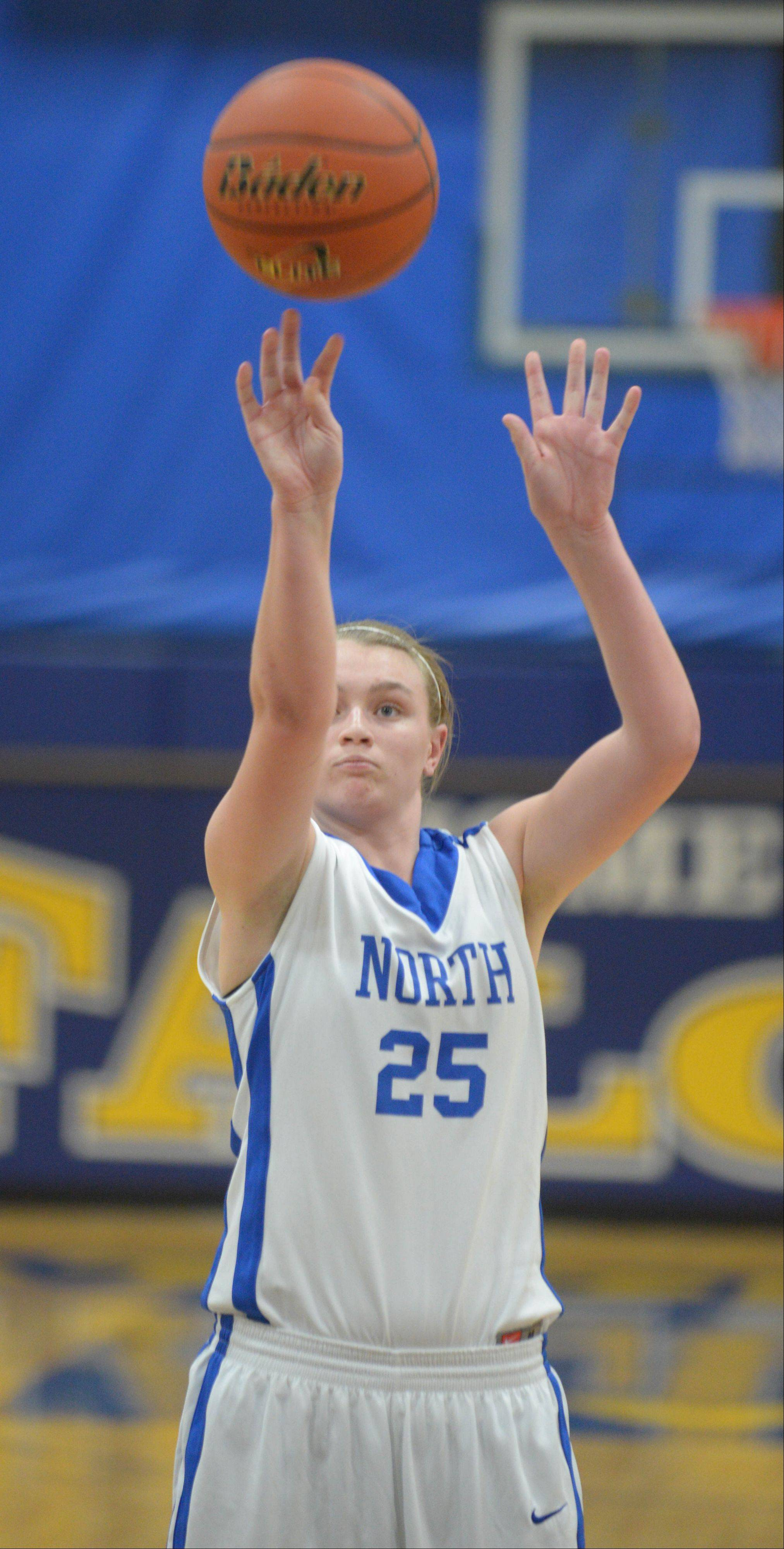 Wheaton North hosted Naperville Central Thursday night for girls basketball.