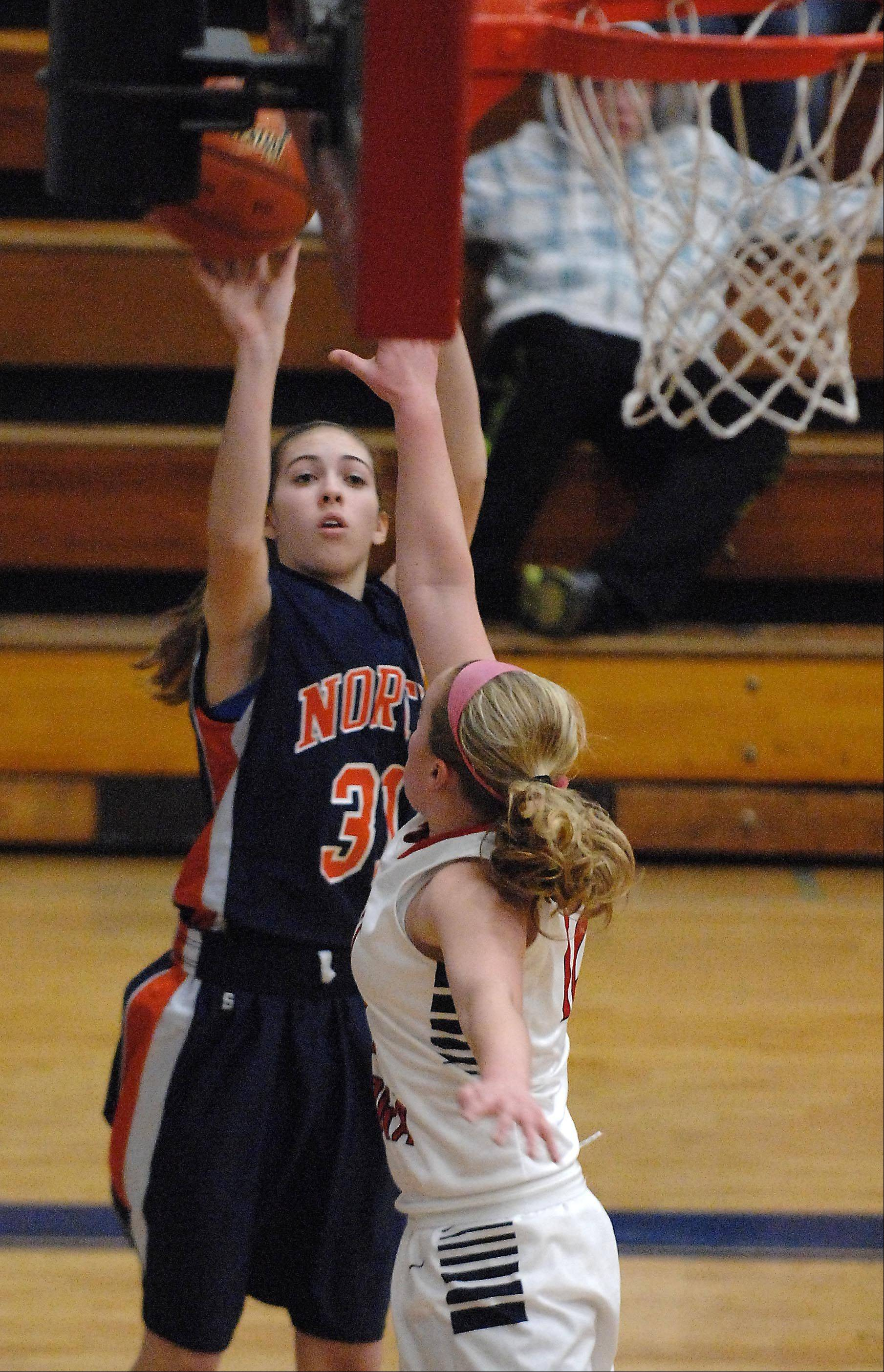 Images from the Naperville North vs. West Aurora girls basketball game Thursday, January 31, 2013.