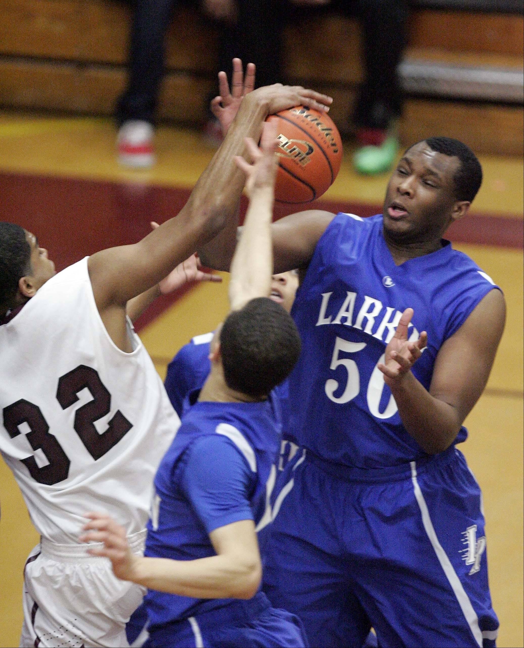 Images from the Larkin vs. Elgin boys basketball game Friday, February 1, 2013.