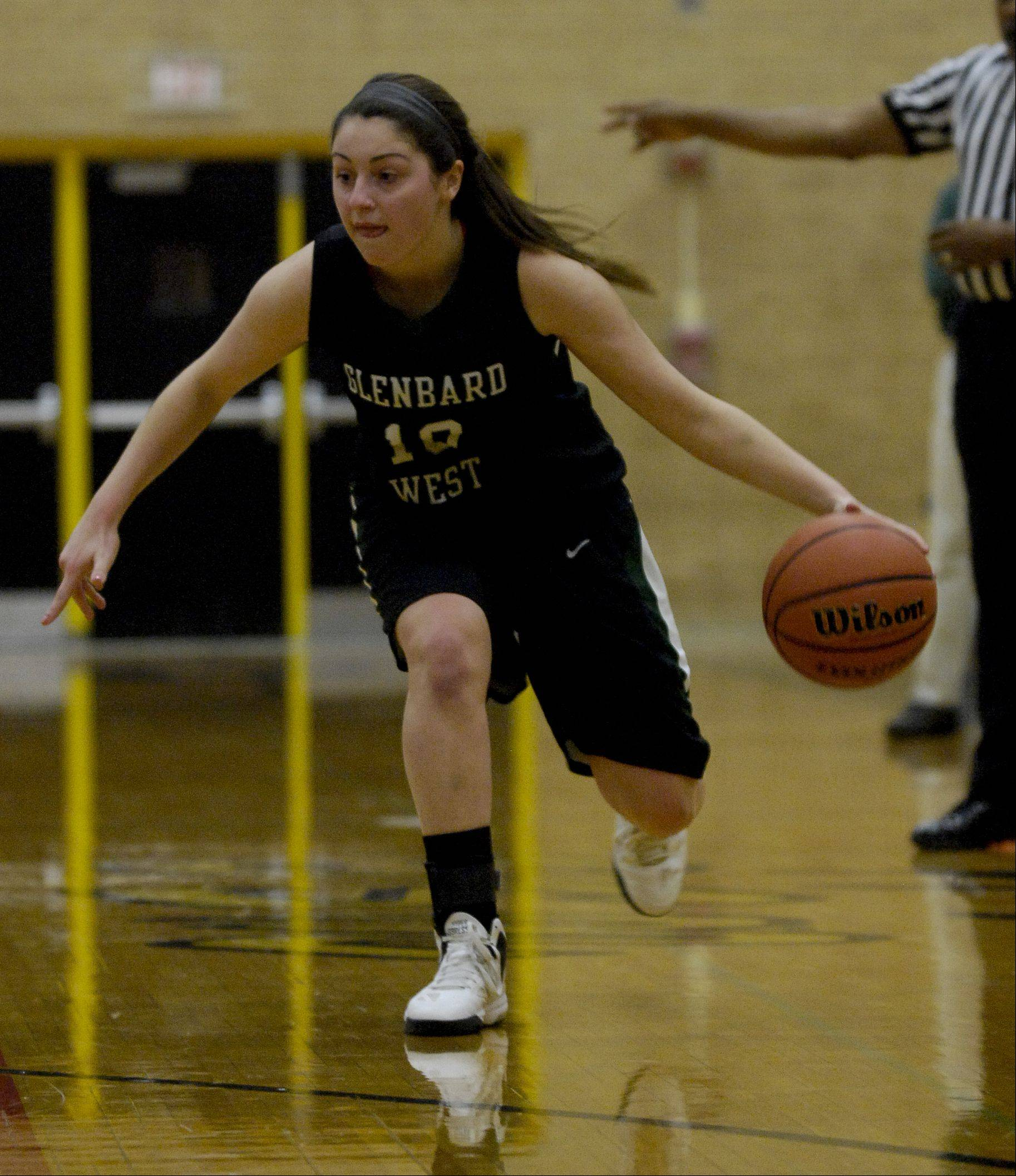 Hinsdale South High School hosted Glenbard West Monday night for girls basketball.