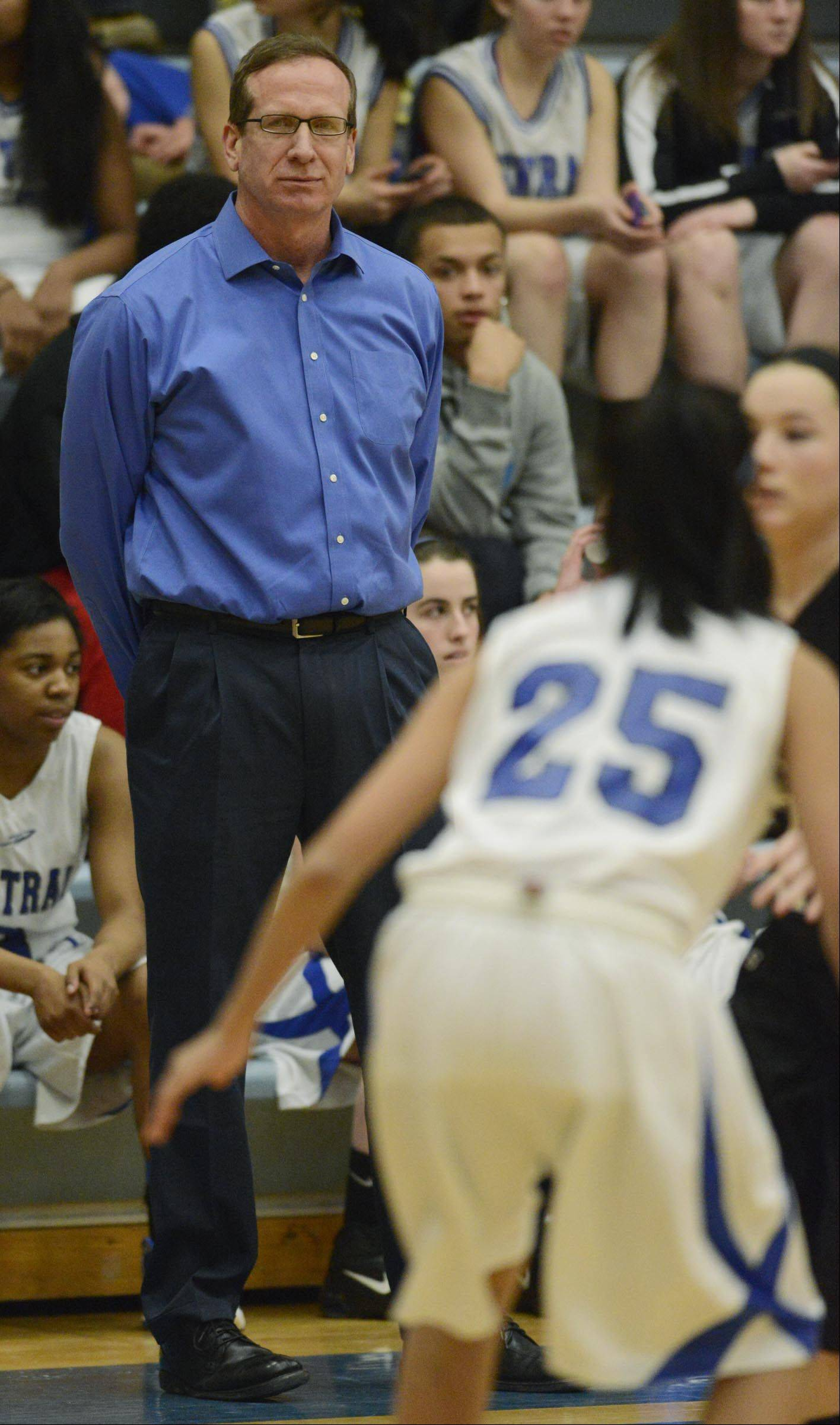 Burlington Central head coach Mark Smith.