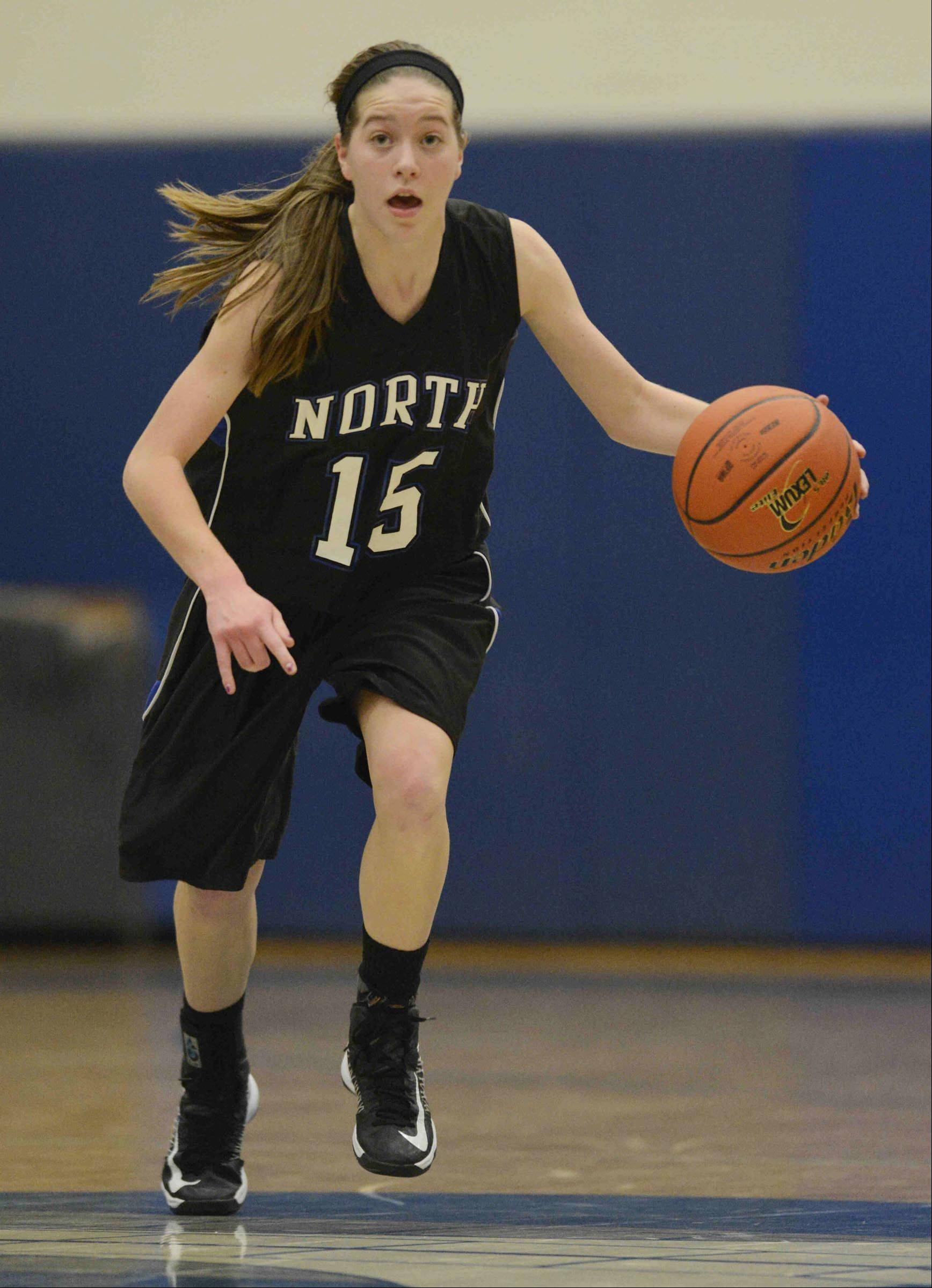 Images from the St. Charles North vs. Burlington Central girls basketball game Tuesday, February 5, 2013.