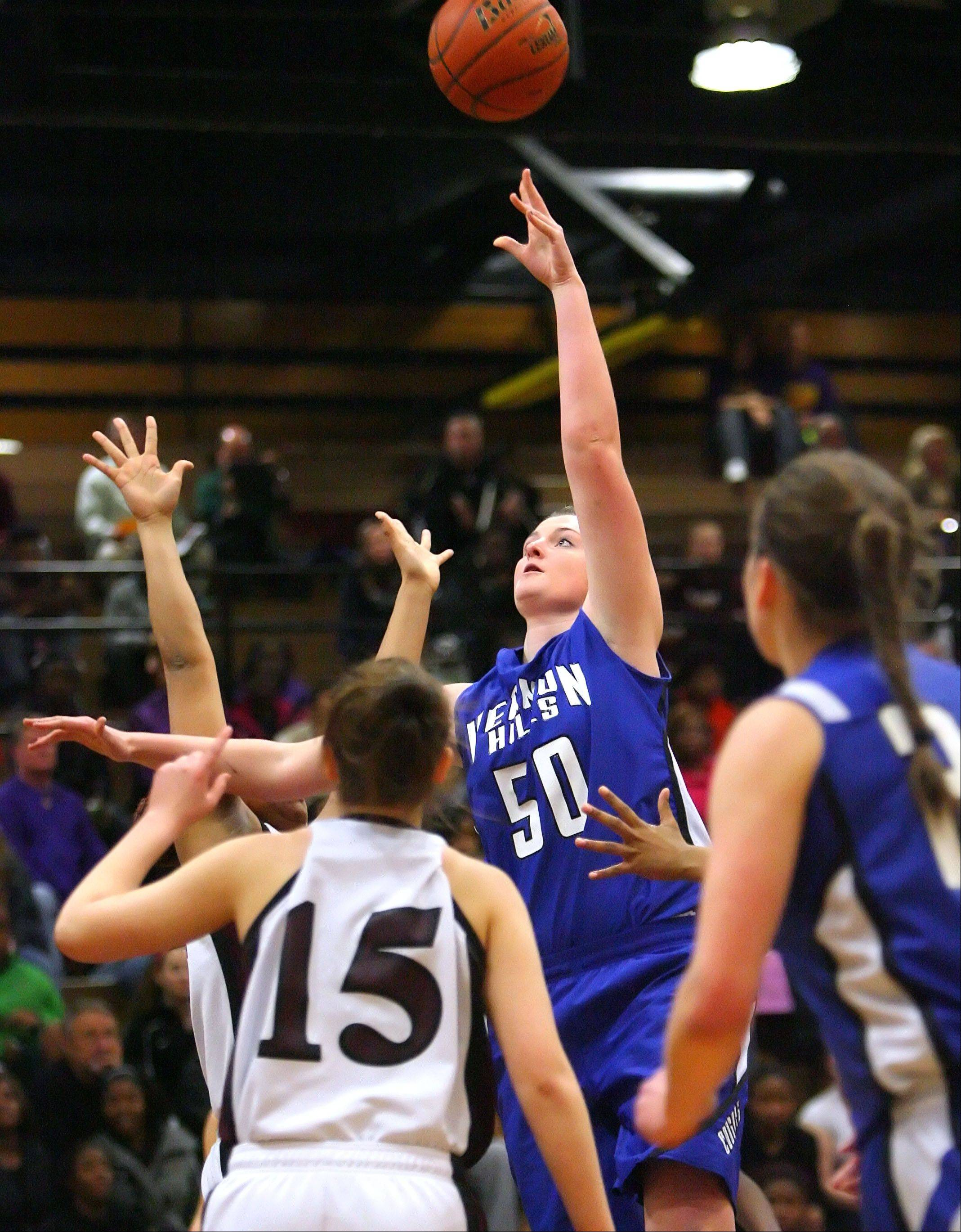 Images from the Vernon Hills at Zion-Benton girls basketball game on Wednesday, Feb. 6 in Zion.