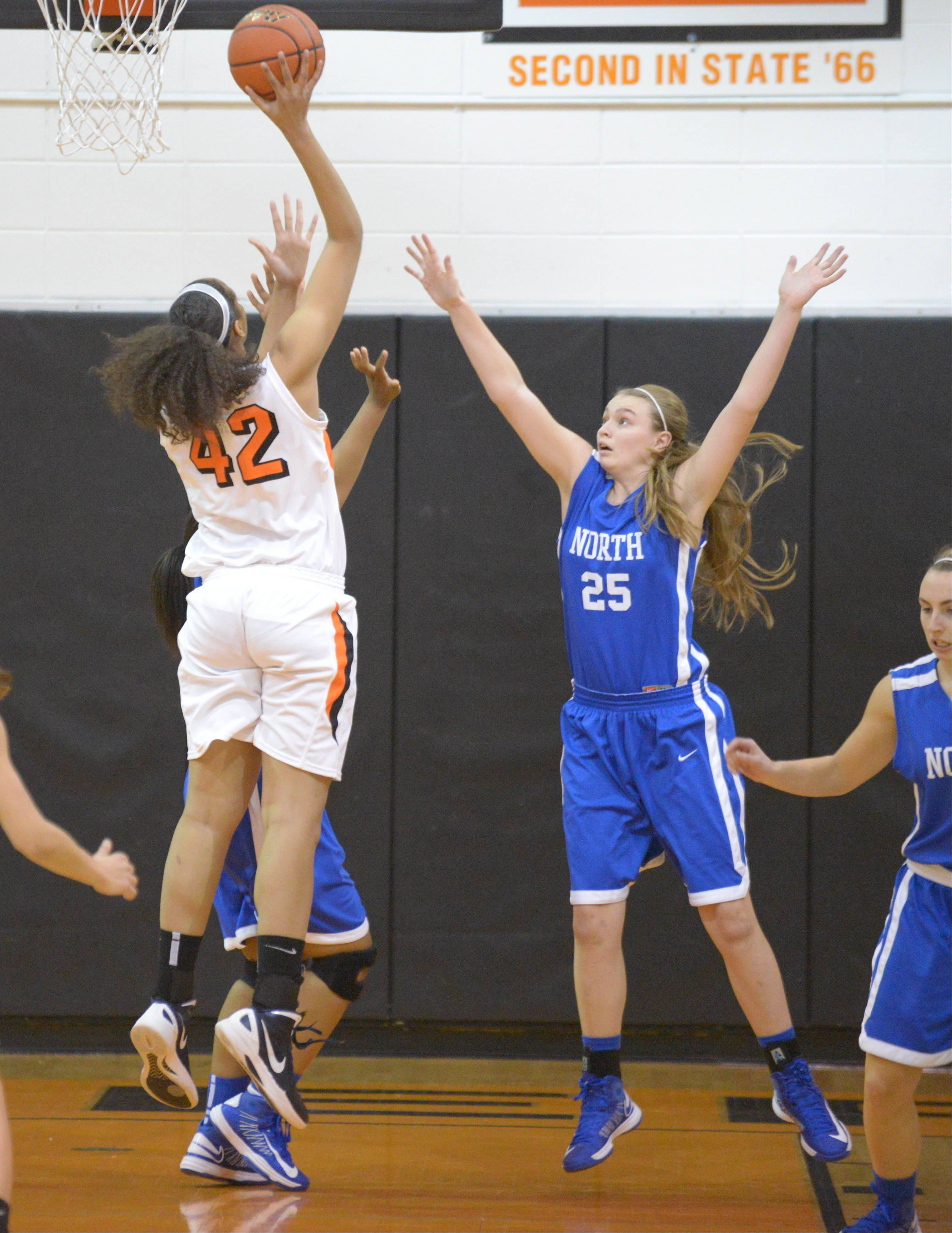 Wheaton Warrenville South hosted Wheaton North Thursday night for girls basketball.