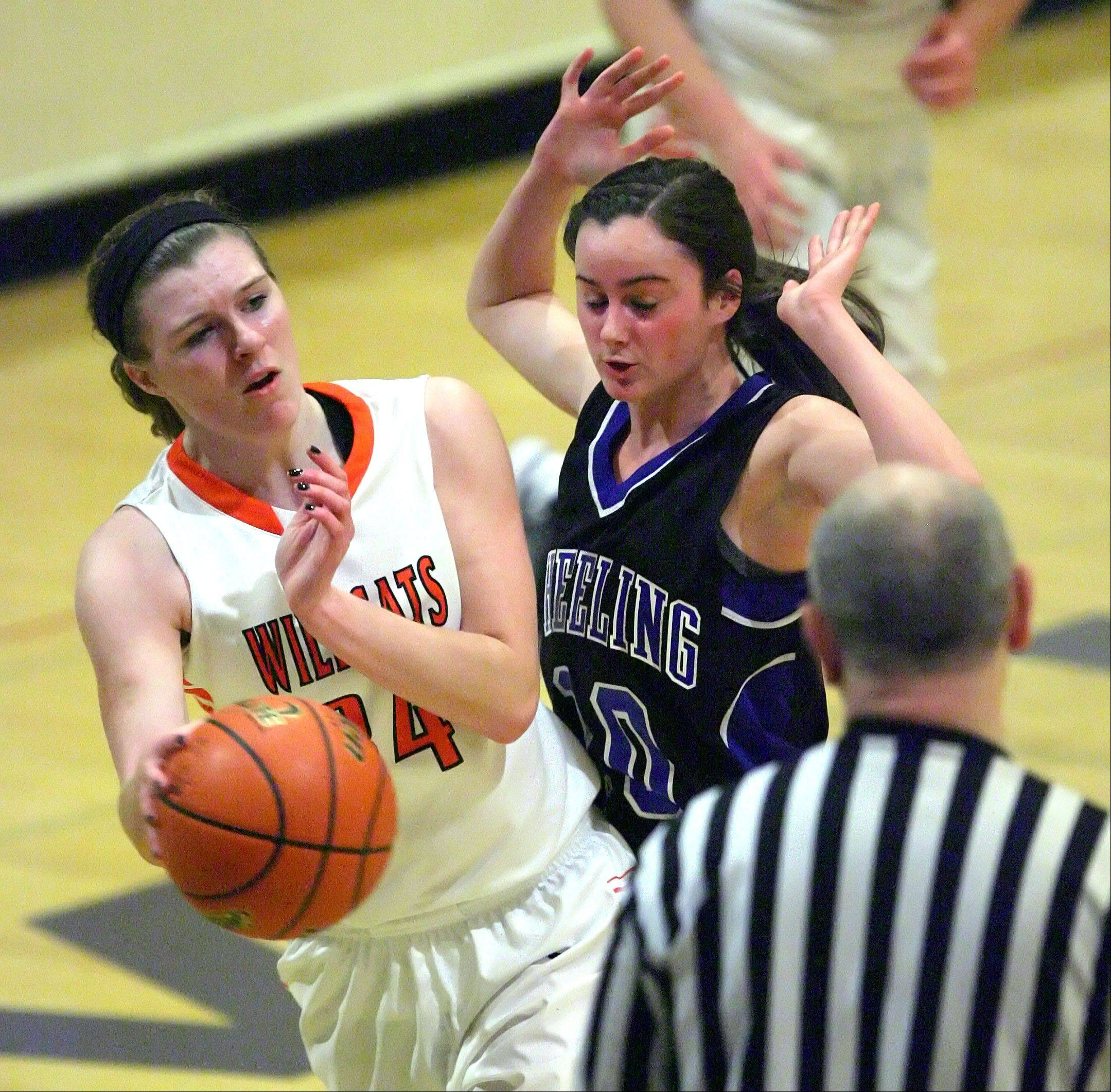 Images from the Libertyville vs. Wheeling girls basketball game on Monday, Feb. 11 in Wheeling.