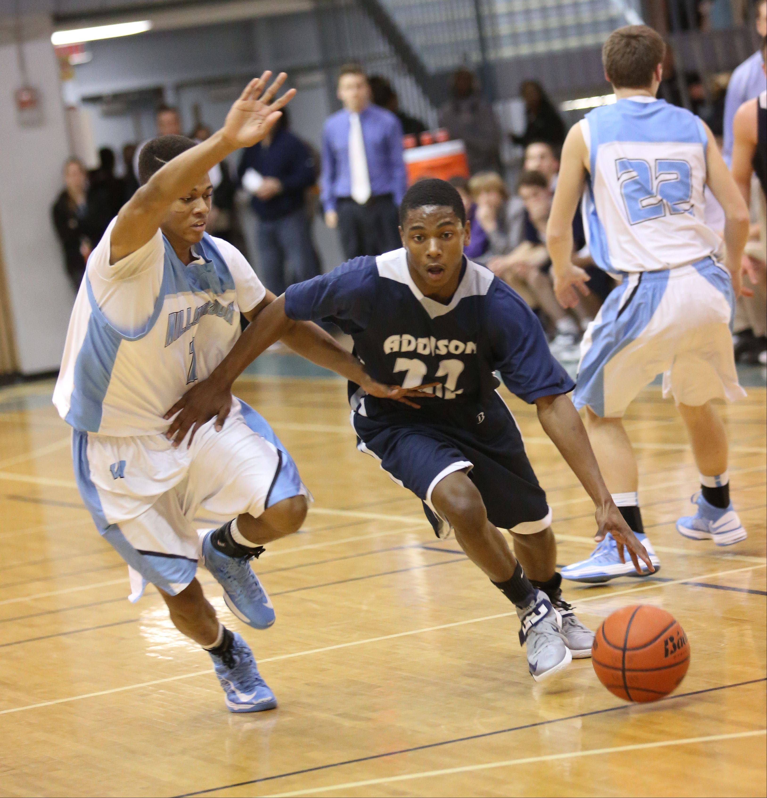 Images: Addison Trail vs. Willowbrook, boys basketball