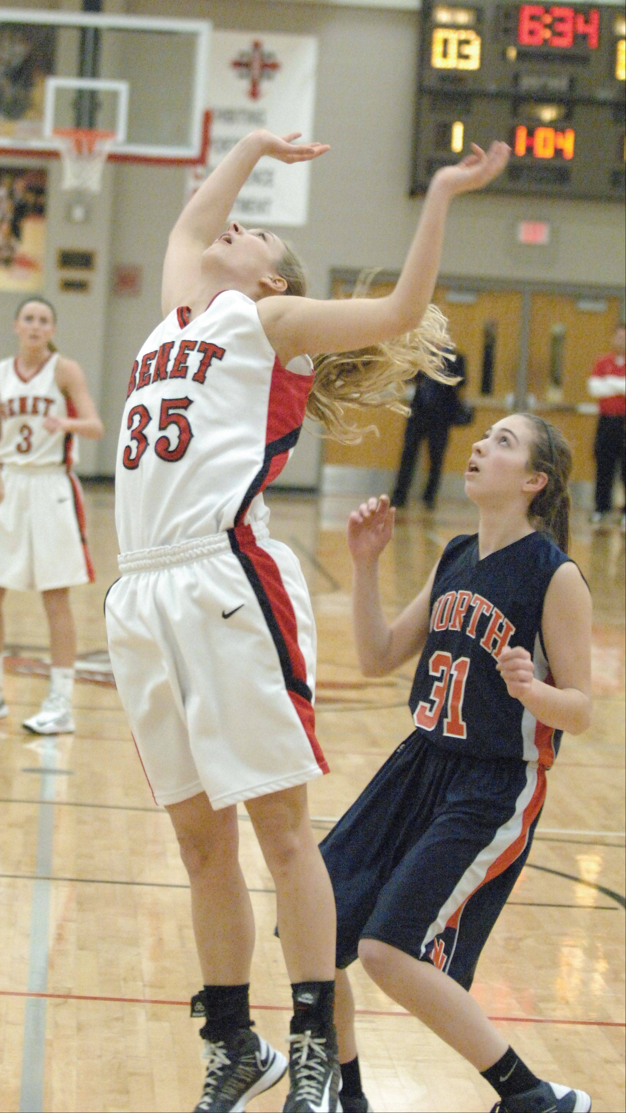 Images from the Benet Academy vs. Naperville North girls 4A regional basketball game on Tuesday, Feb. 12, 2013.