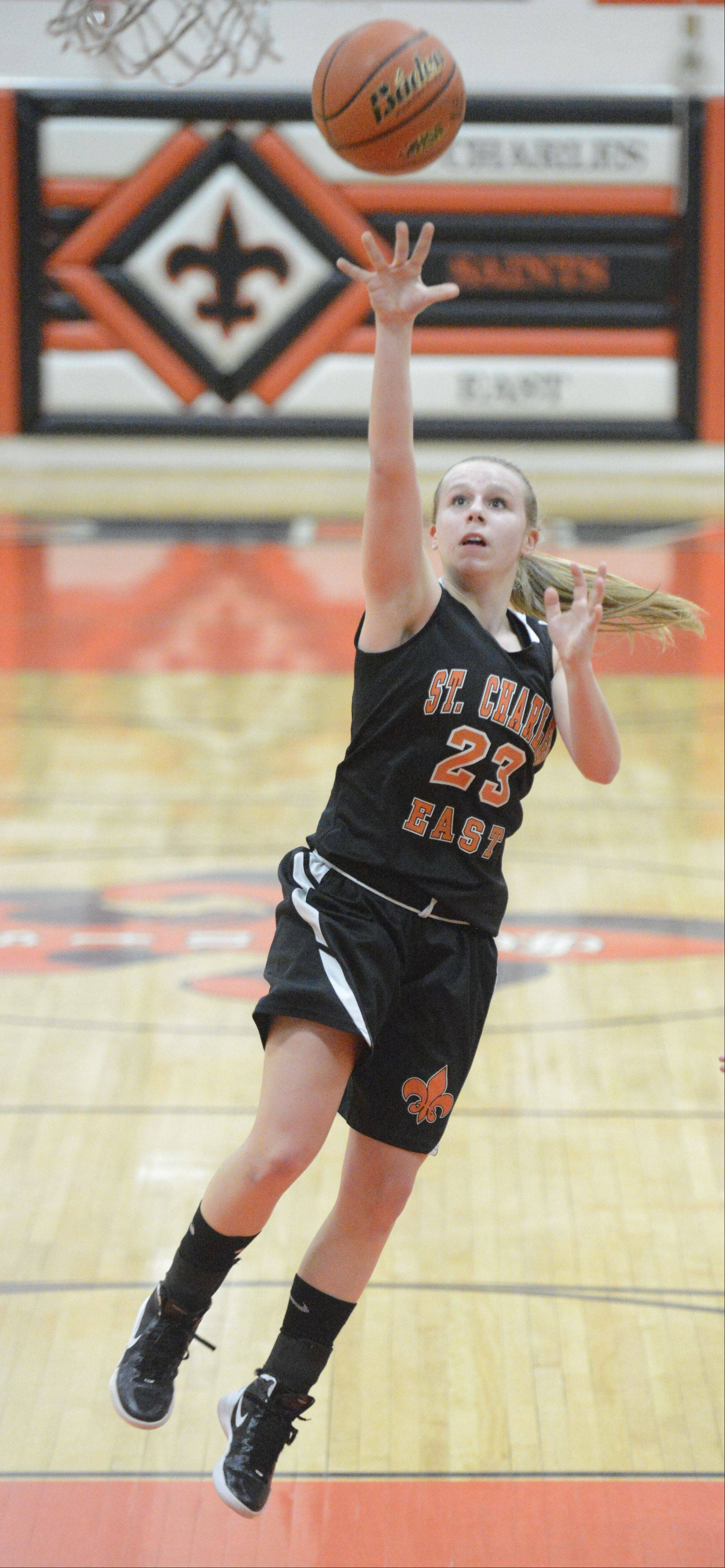 Images from the Batavia vs. St. Charles East girls basketball game Tuesday, February 12, 2013.
