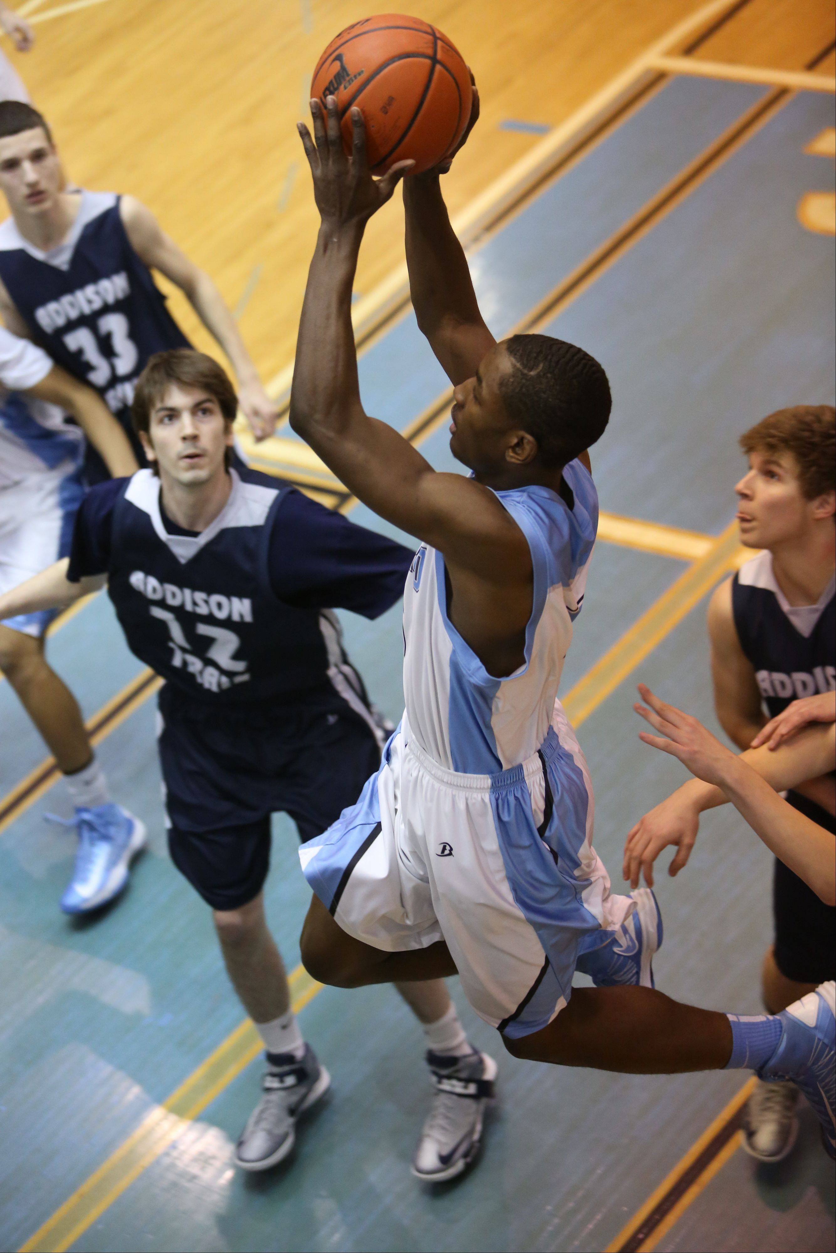 Addison Trail at Willowbrook boys basketball on Tuesday, February 12, 2013 in Villa Park.