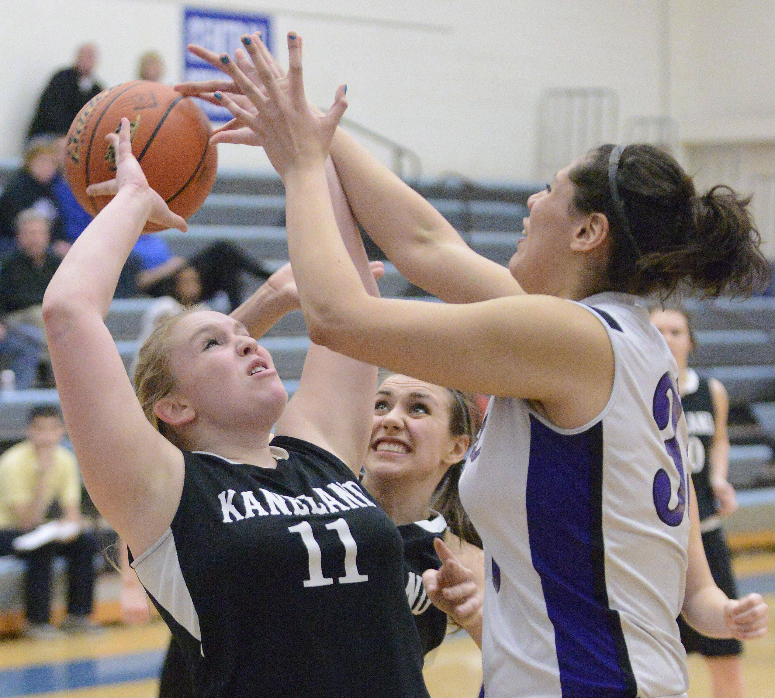 Images from the Kaneland vs. Plano girls basketball game Wednesday, February 13, 2013.