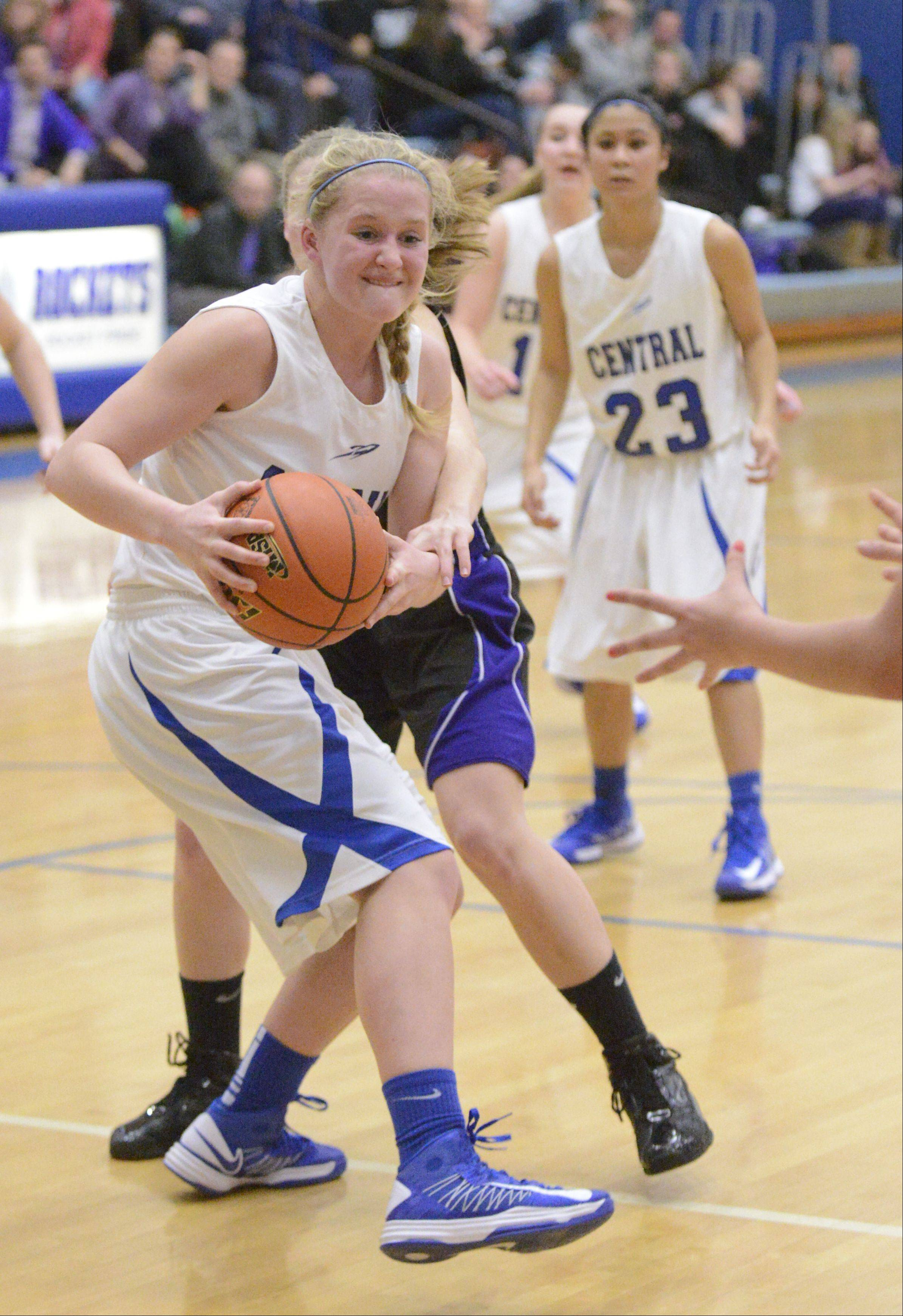 Images from the Burlington Central vs. Hampshire girls basketball game Wednesday, February 13, 2013.