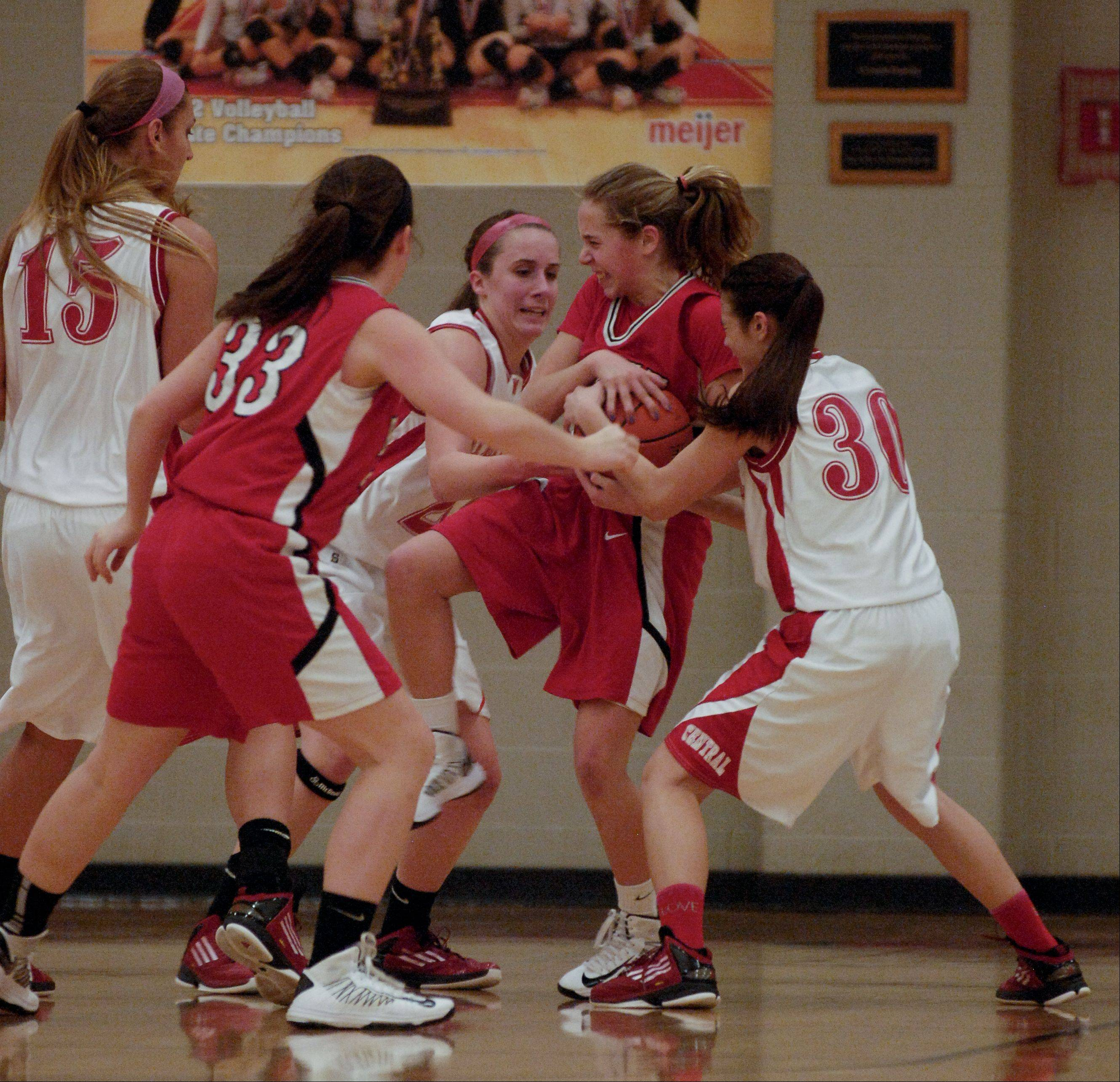 Images from the Naperville Central vs. Benet Academy girls Class 4A regional final basketball game on Thursday, February 14, 2013.