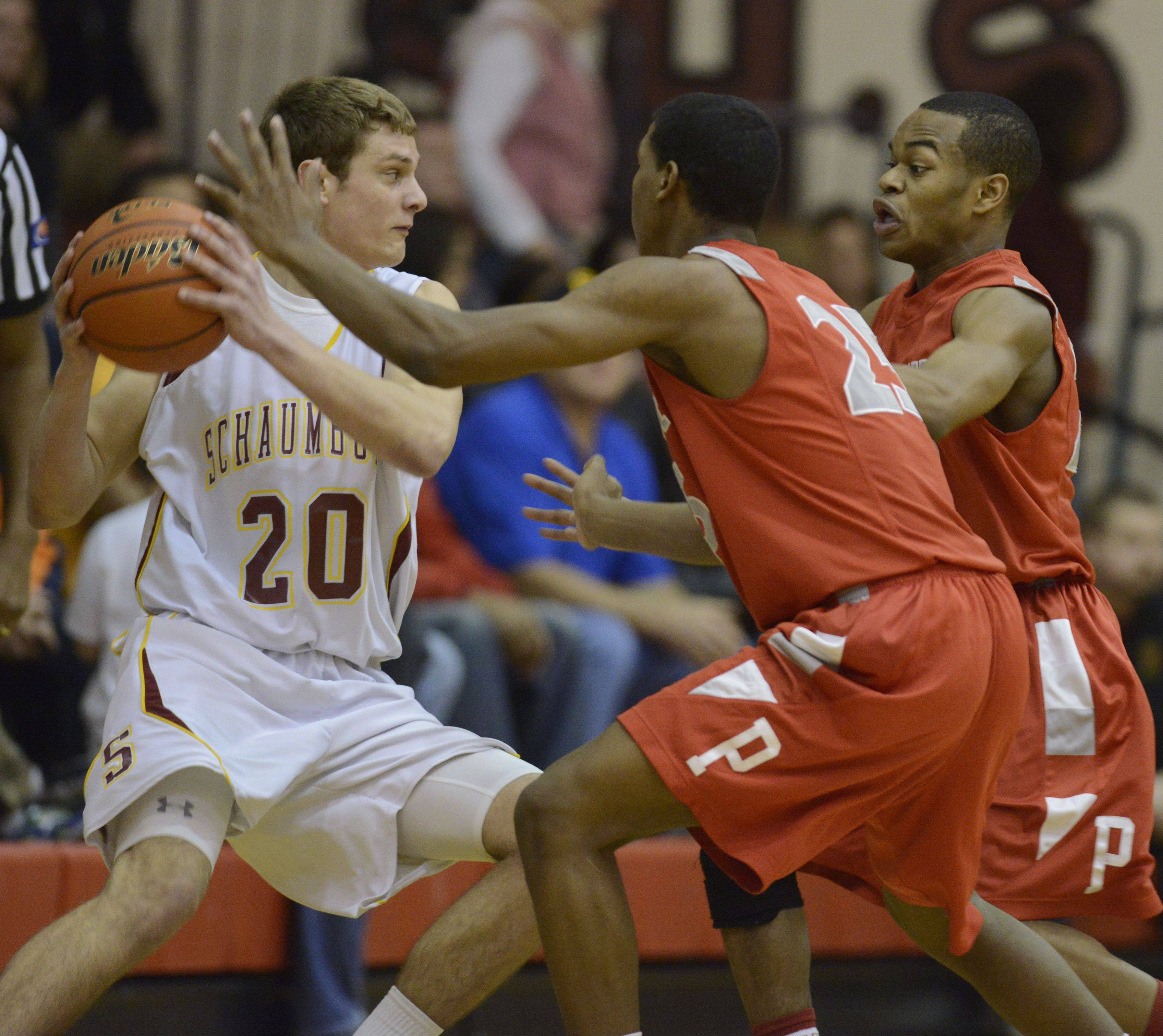Images: Schaumburg vs. Palatine, boys MSL West championship basketball