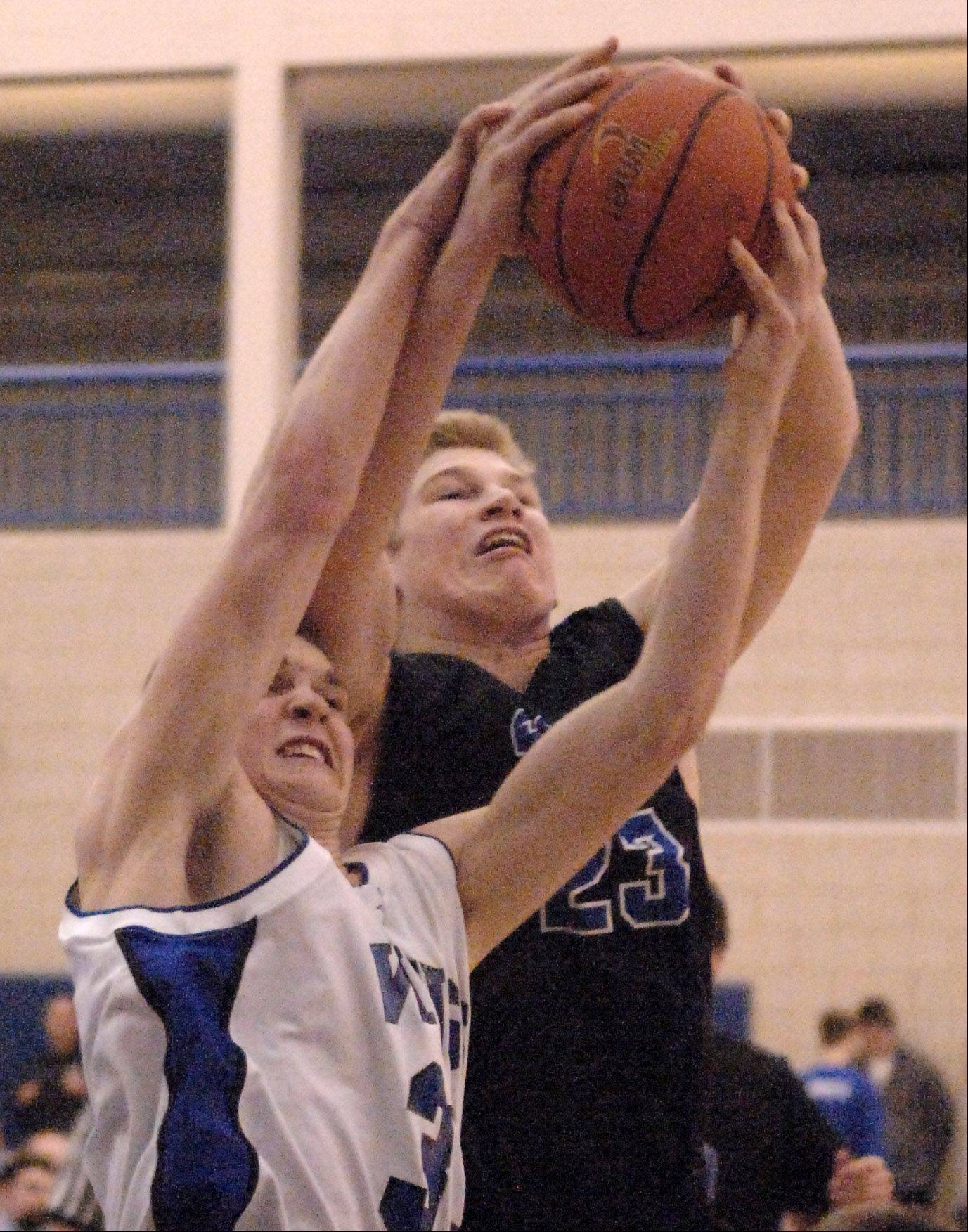Images from the St. Charles North vs. Geneva boys basketball game Friday, February 15, 2013.